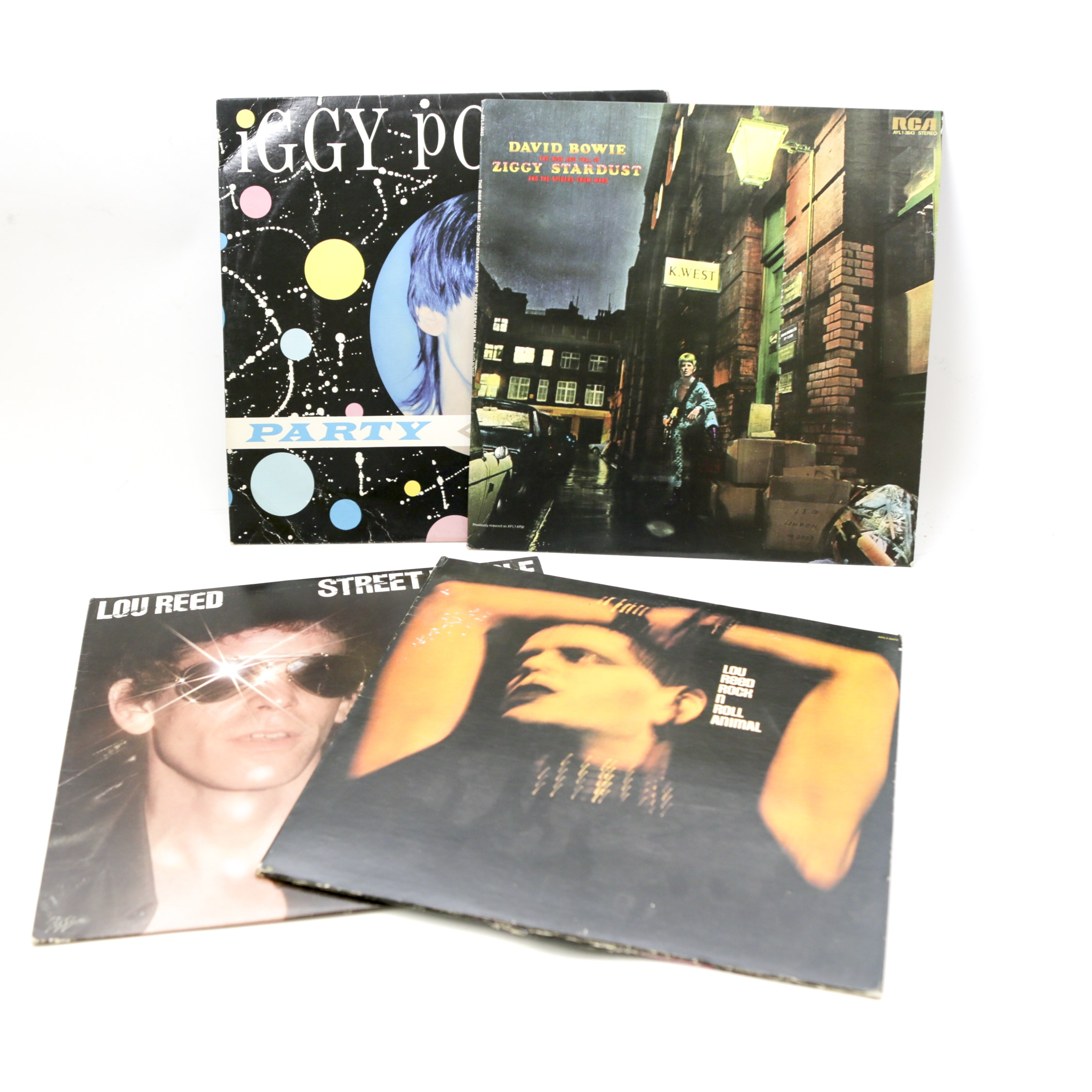 Lou Reed, Iggy Pop and David Bowie LP Records