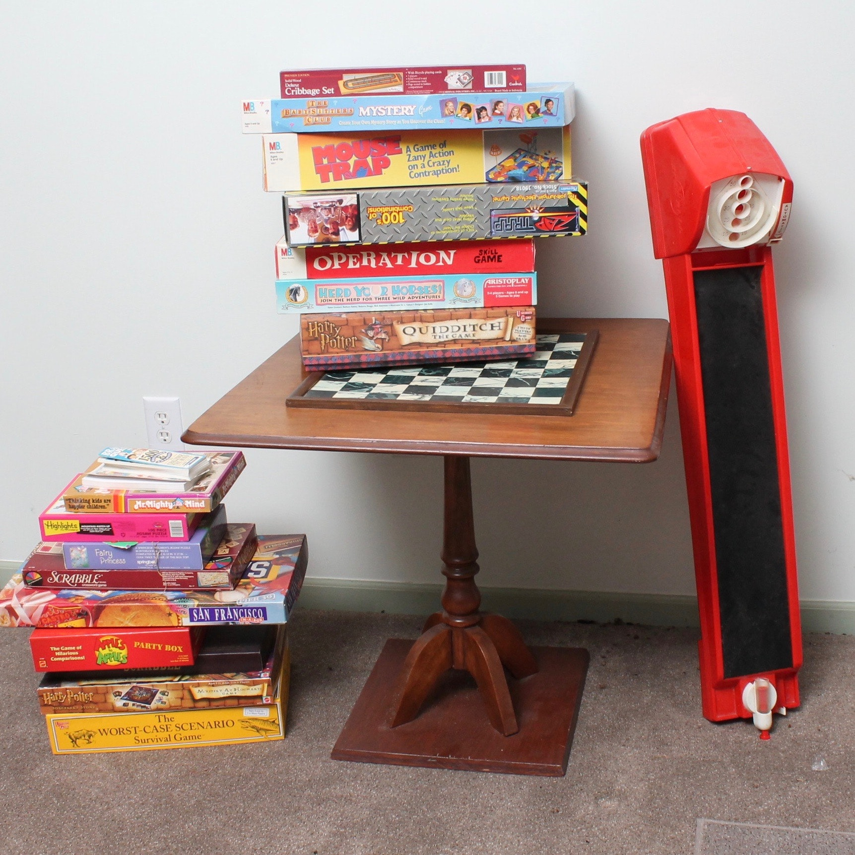 Board Games with Chess Table and Miniature Skee-Ball
