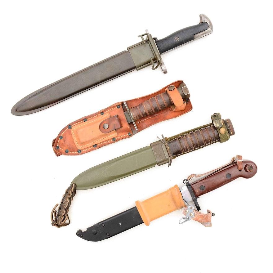 Vietnam Era Combat Knives and Bayonet