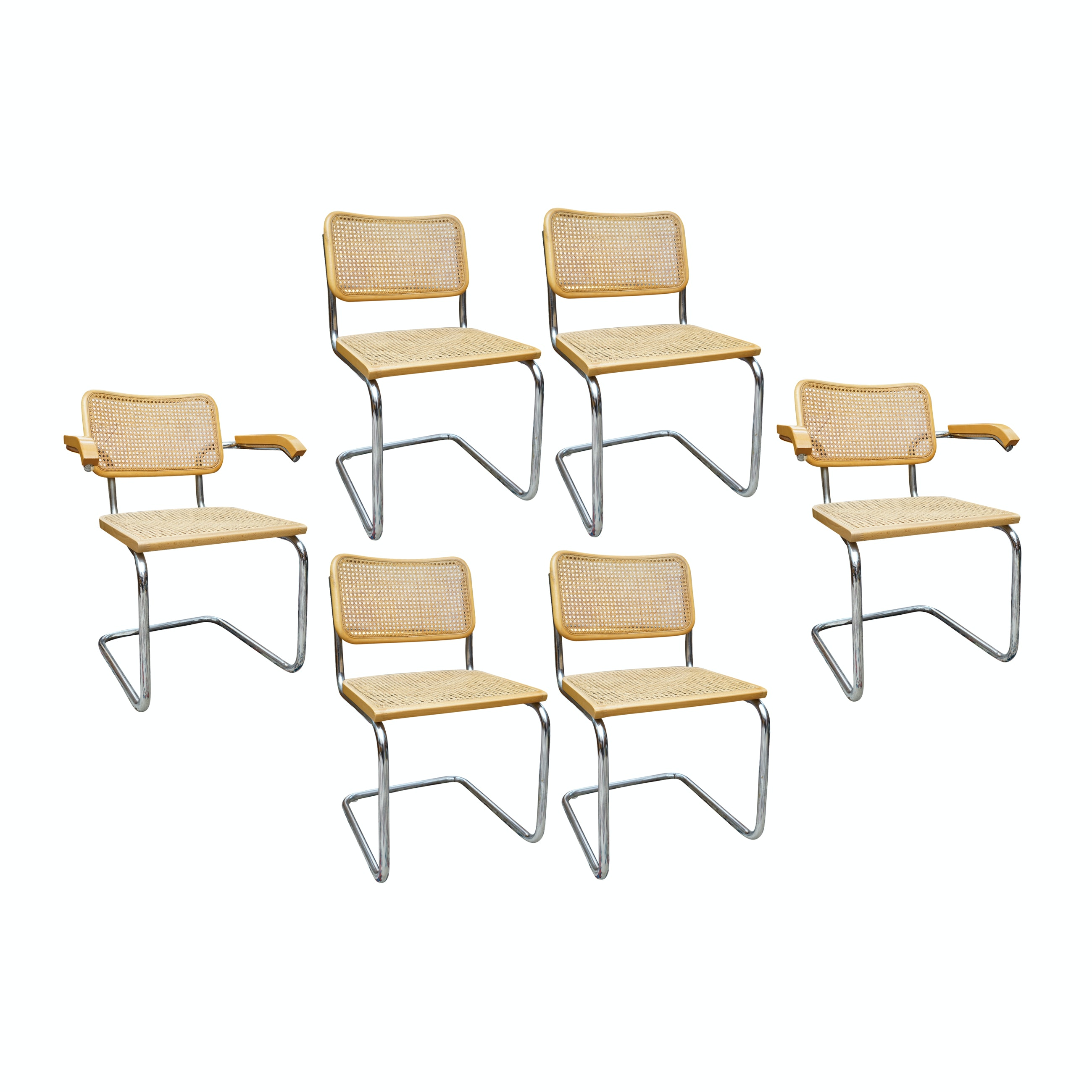 Cesca Style Chairs, Set of Six