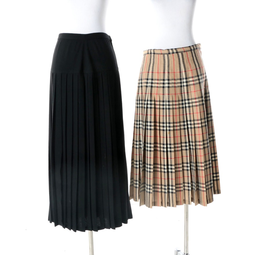 15733cffb95a Vintage Burberry and Christine Albers Pleated Skirts   EBTH