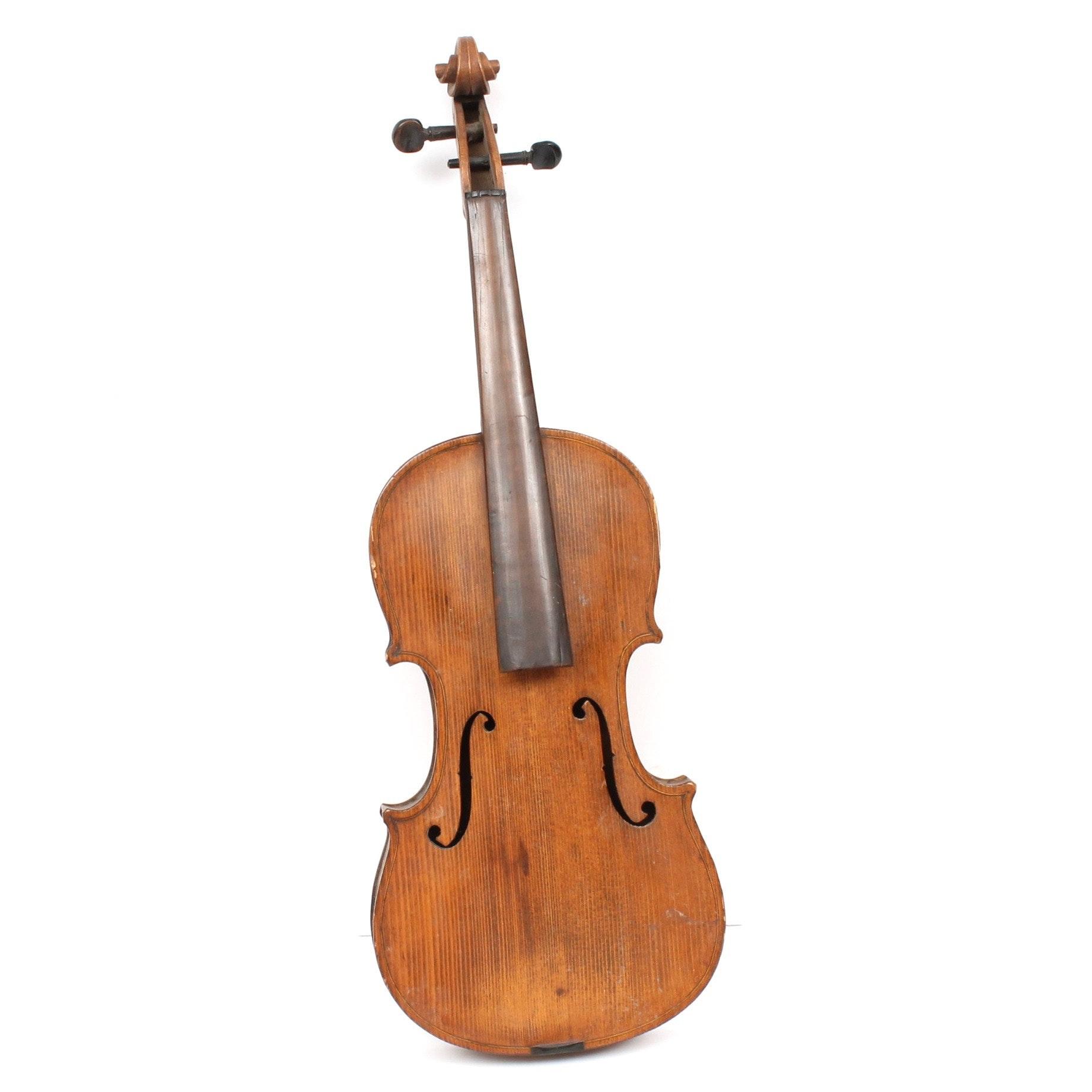 Antique Stradivarius Style 4/4 Violin