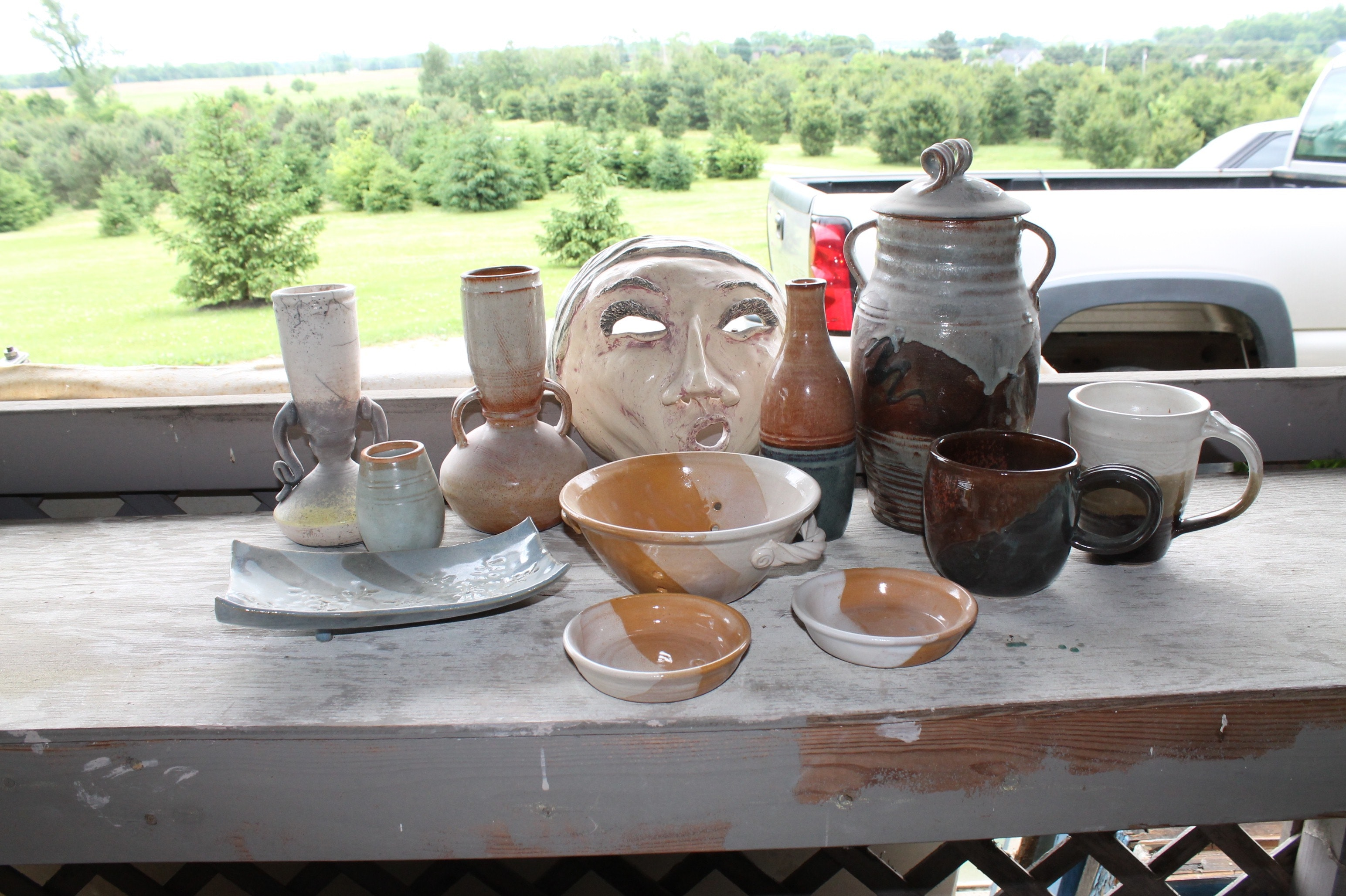Fred and Susan Borthwick Hand Thrown and Built Pottery