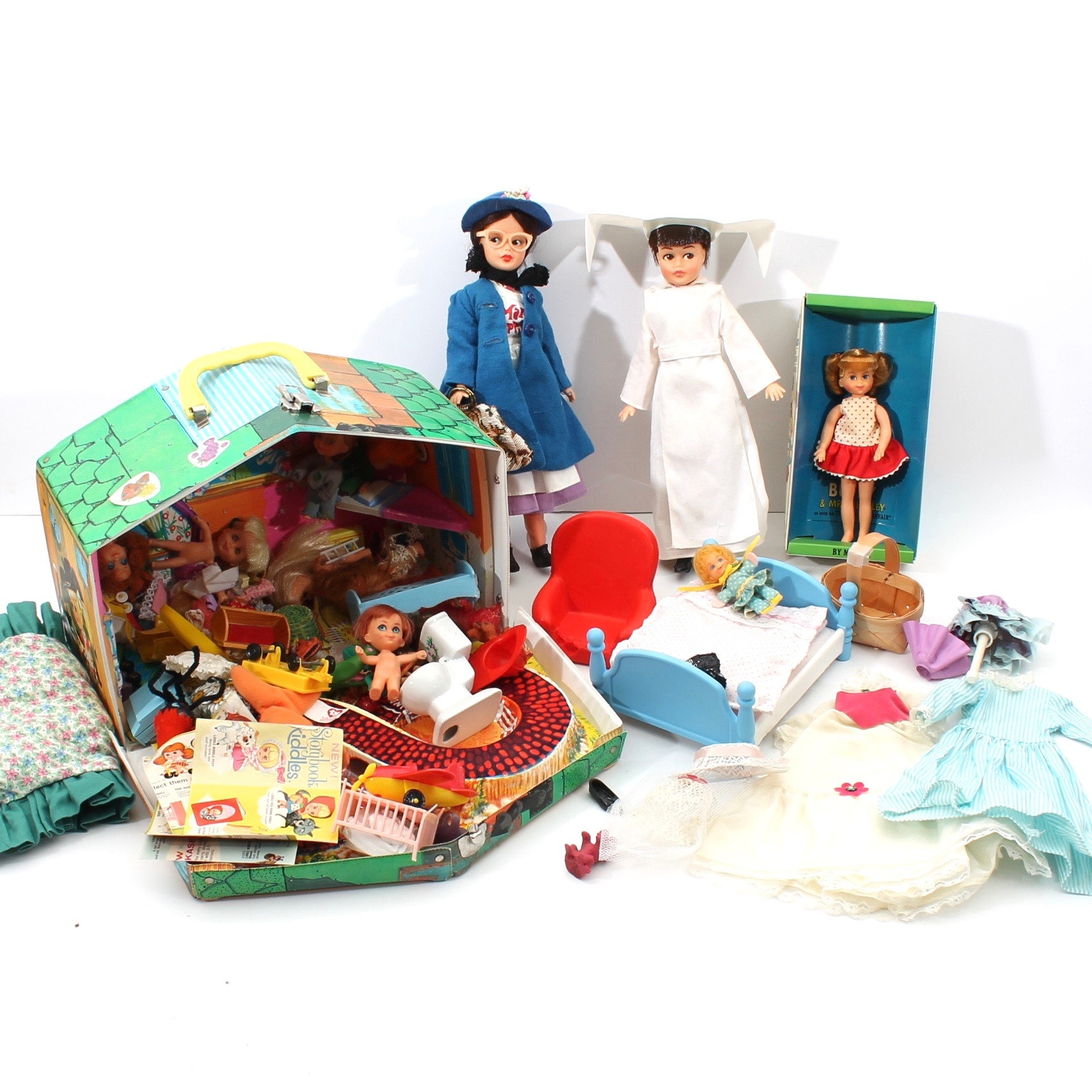 Vintage Dolls Featuring Mary Poppins and the Flying Nun