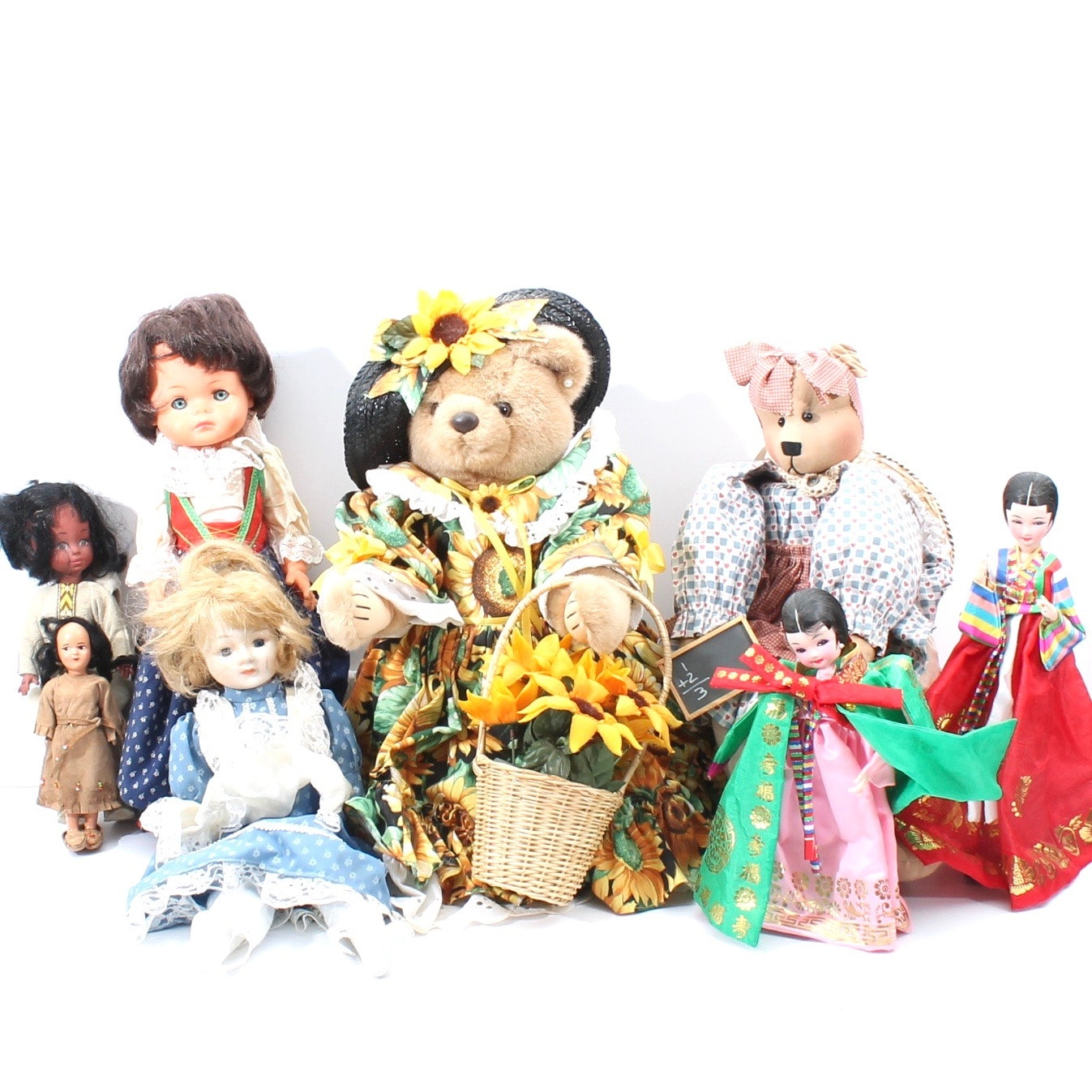 Collection of Vintage Dolls and Bears