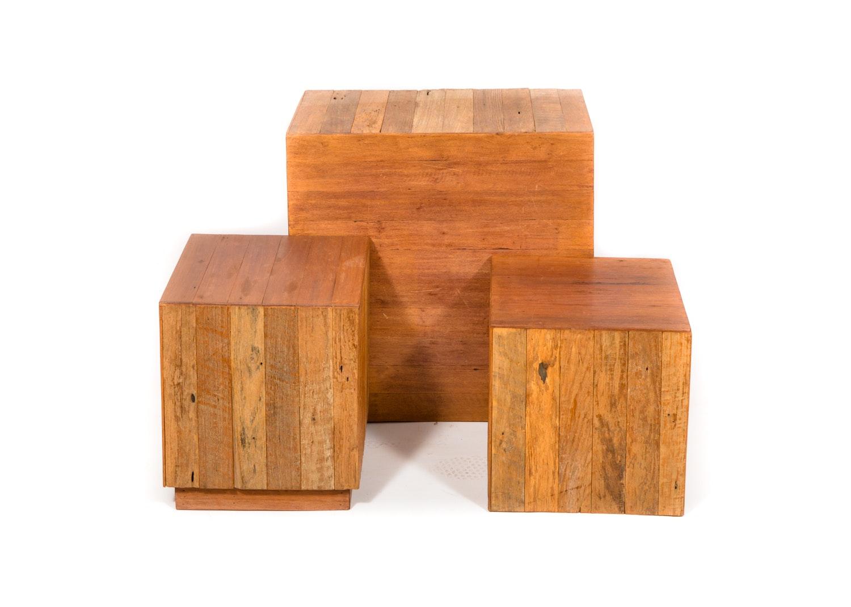 Wood Display Cubes