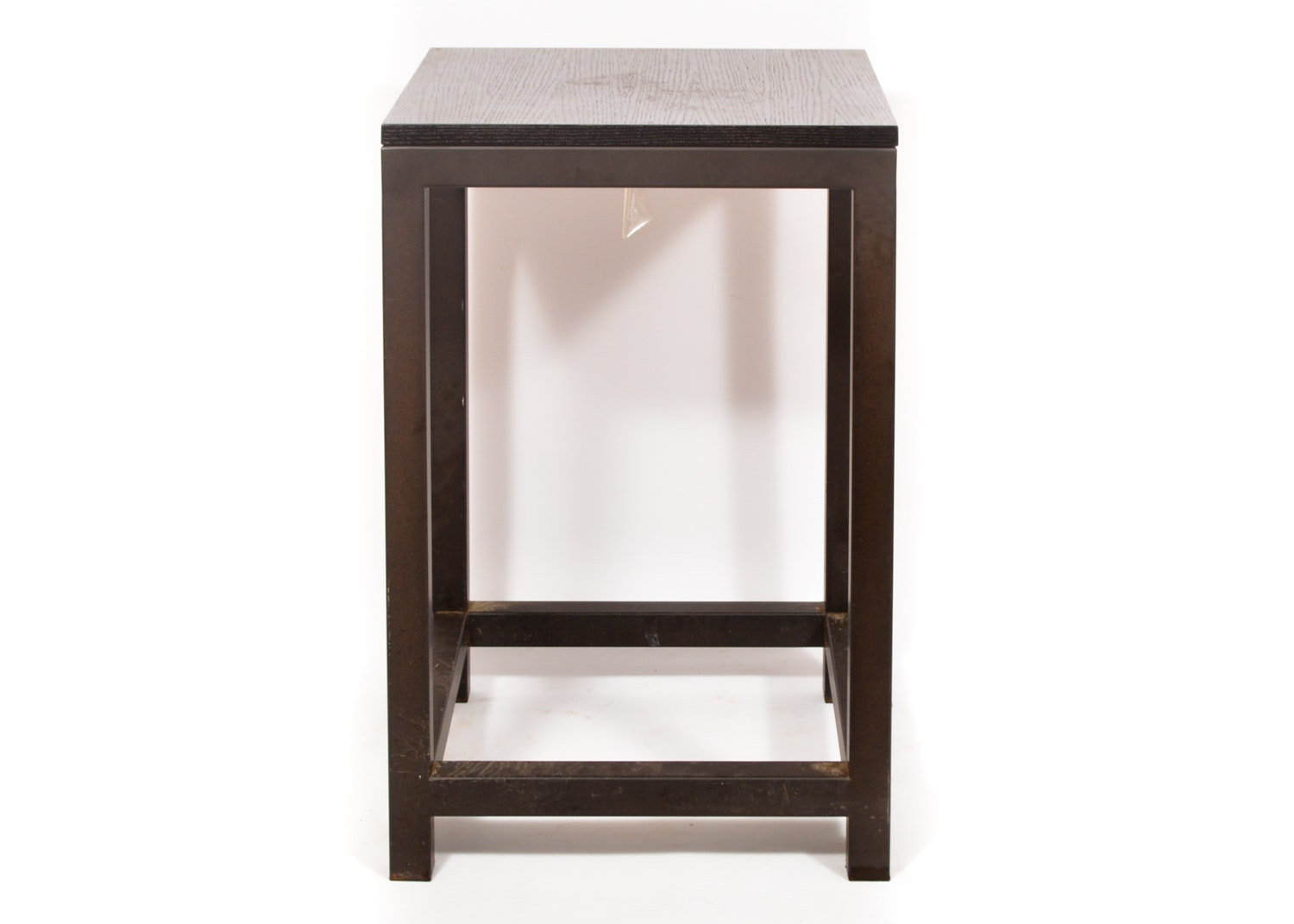 Contemporary Wood and Metal End Table