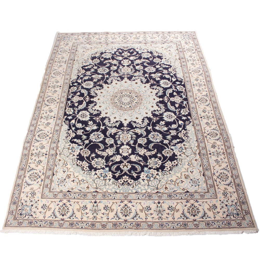 6'9 x 9'8 Fine Hand-Knotted Persian Nain Rug