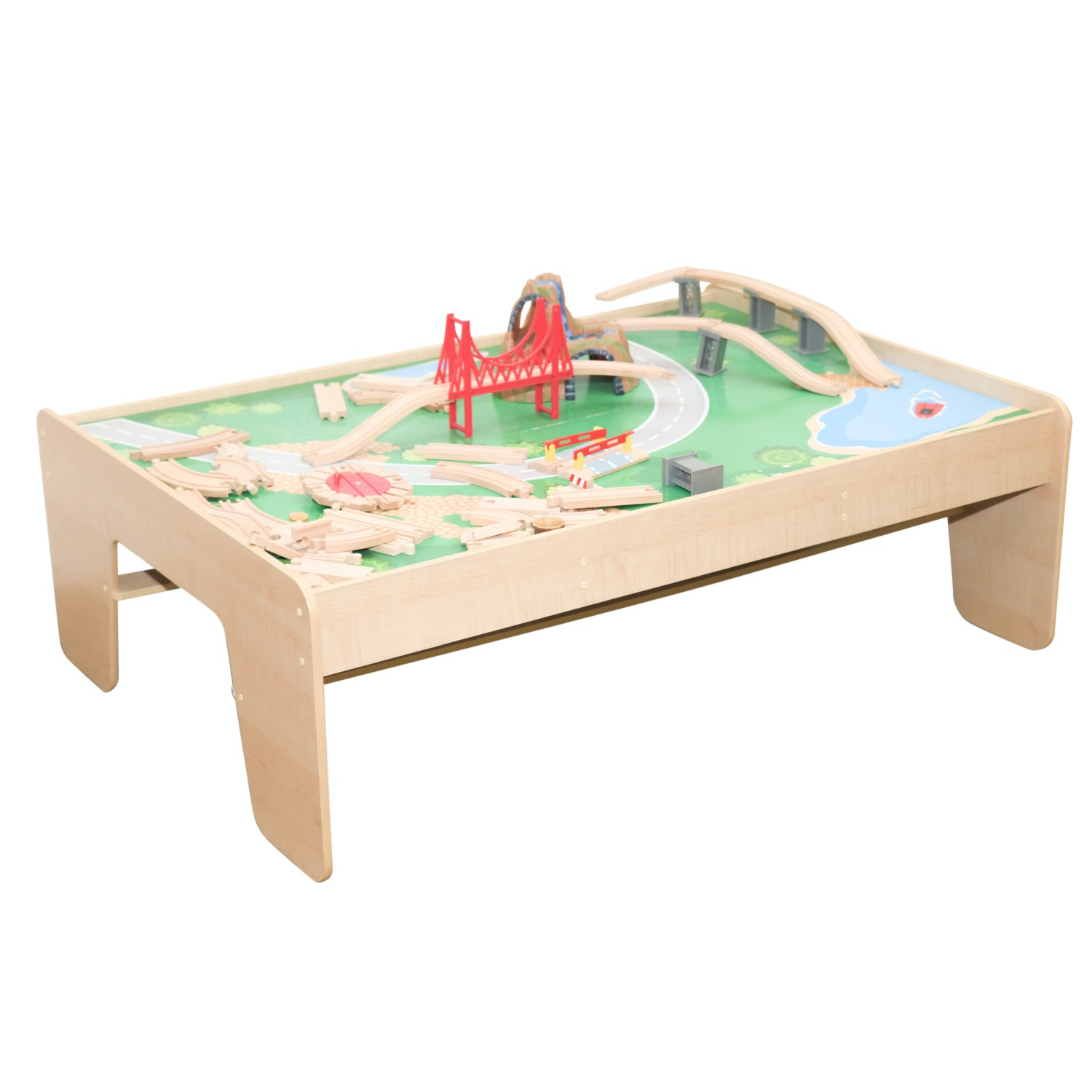 Waterfall Mountain Train Table by Kid Kraft with Play Pieces