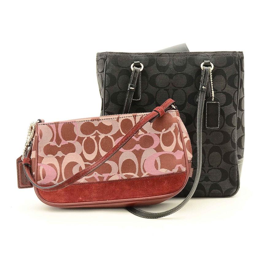 26f0e7599e6 Coach Signature Jacquard and Leather Handbags   EBTH