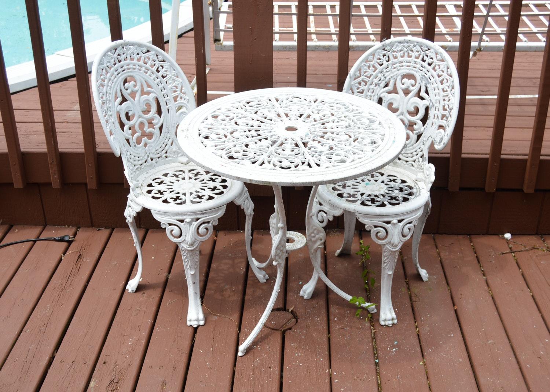 Cast Aluminum Victorian Style Garden Set