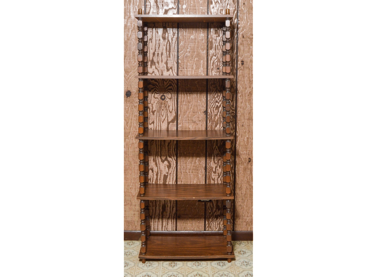 Vintage Wood Bookshelf Unit