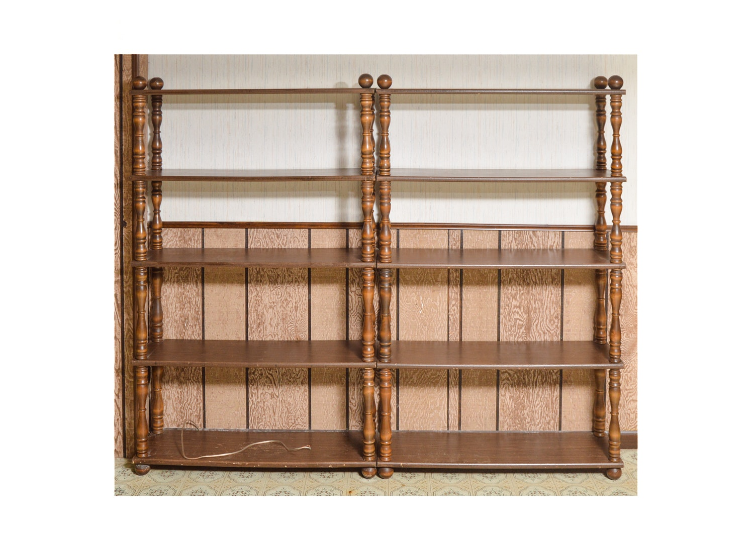 Vintage Matching Wood Bookcases