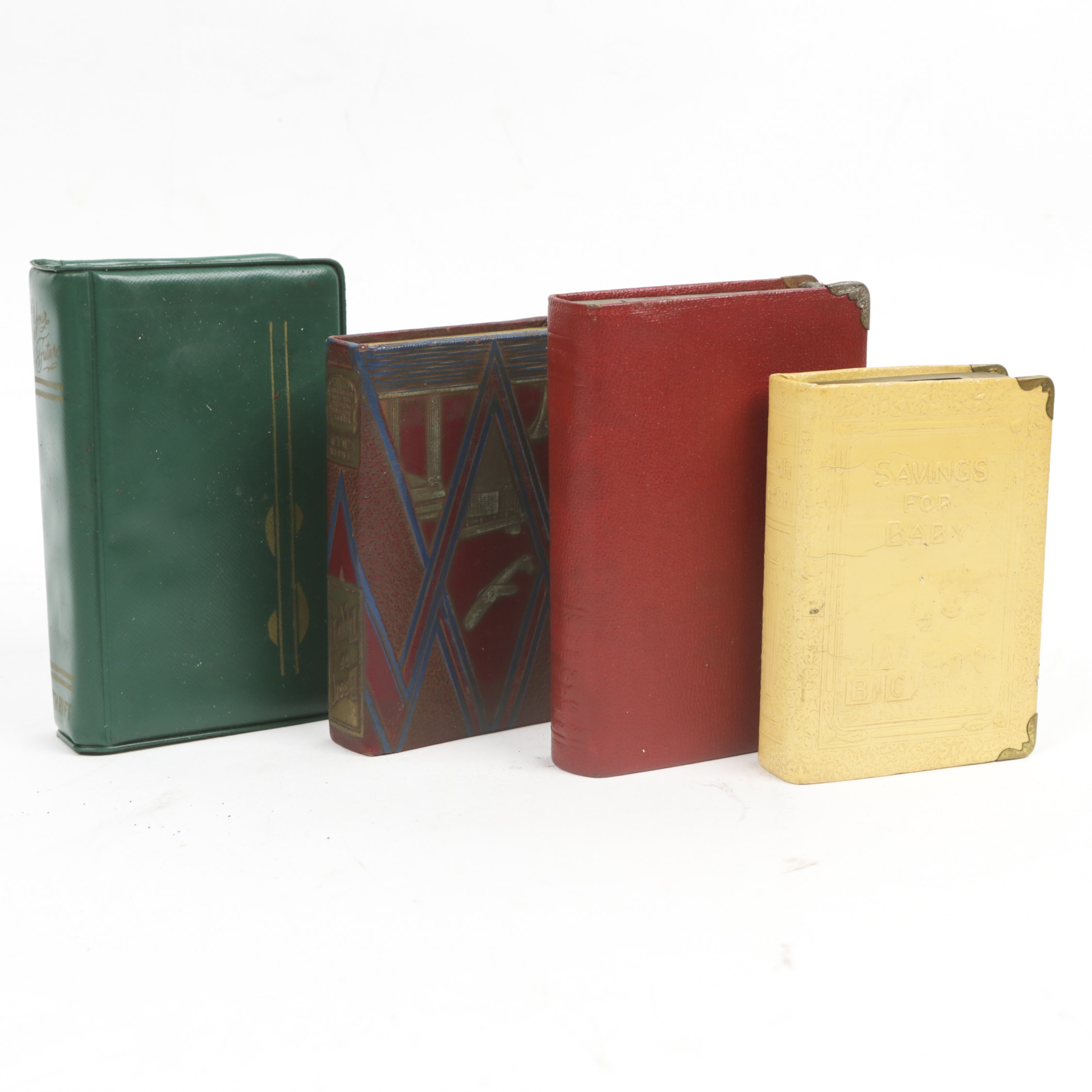 "Vintage Book Banks, Including ""Book Of Thrift"""