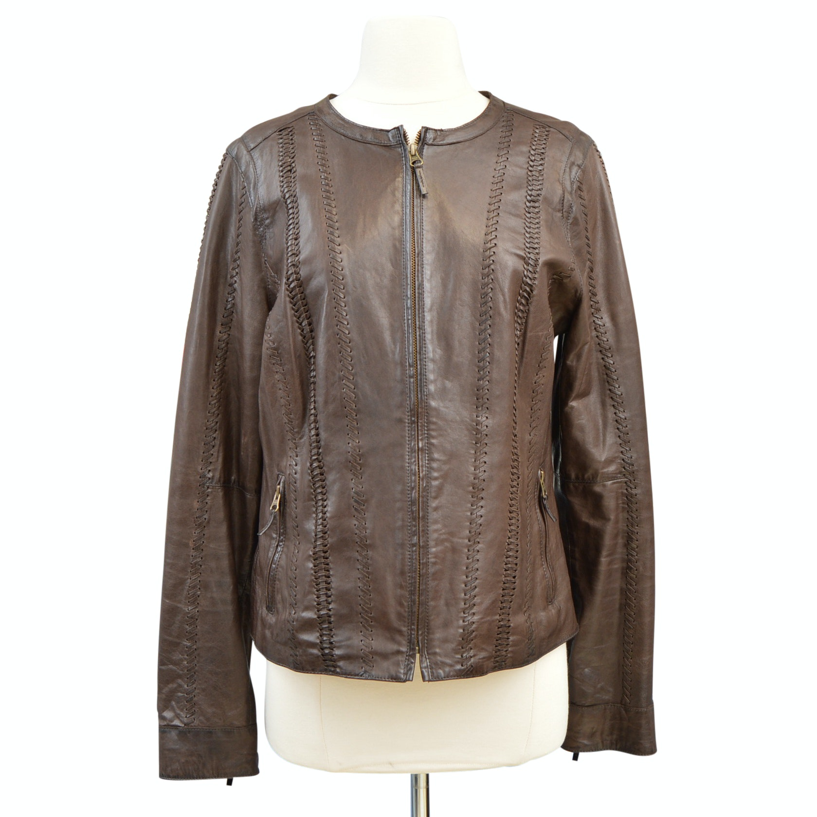 Women's Vince Brown Leather Jacket