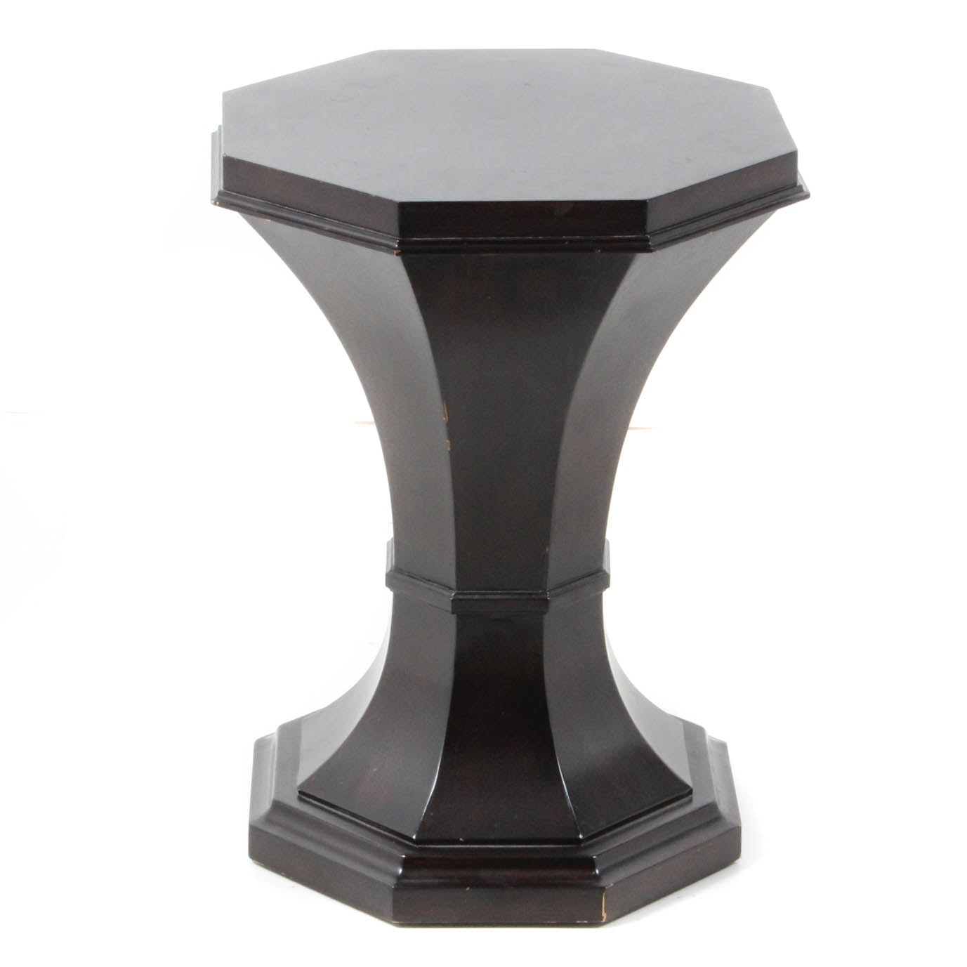 Vintage Walnut Stained Octagonal Accent Table