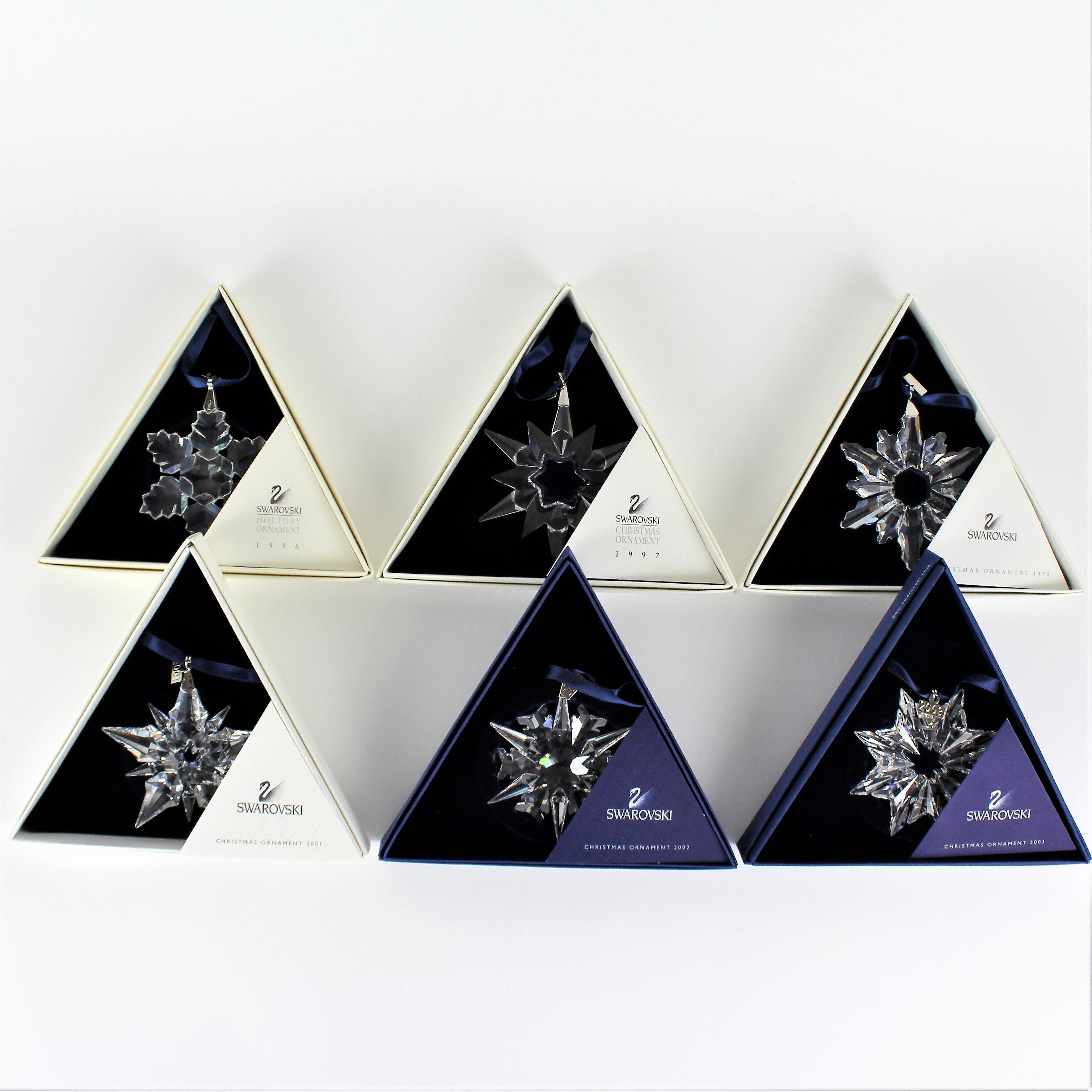 Swarovski Crystal Star Snowflake Ornaments