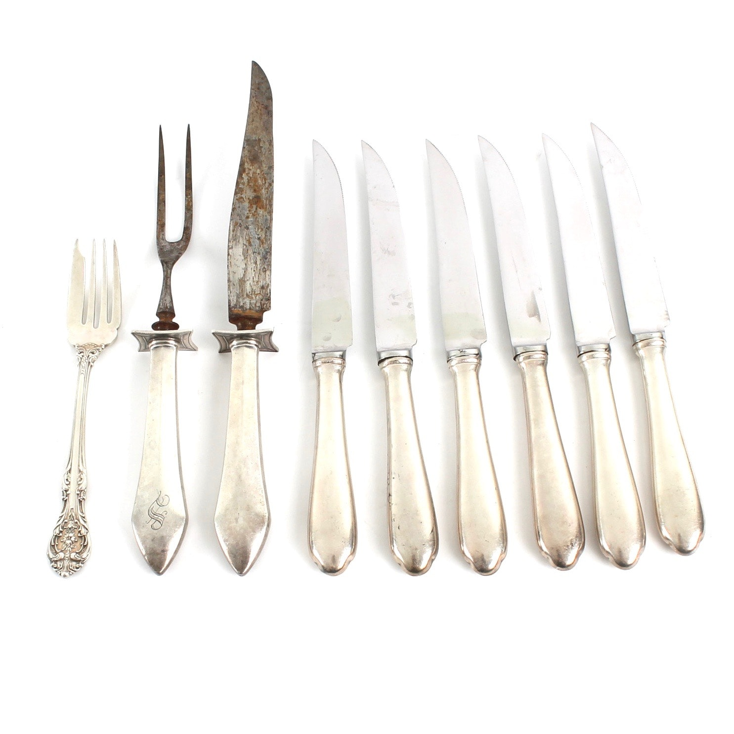 Assorted Sterling Silver Flatware Featuring Gorham