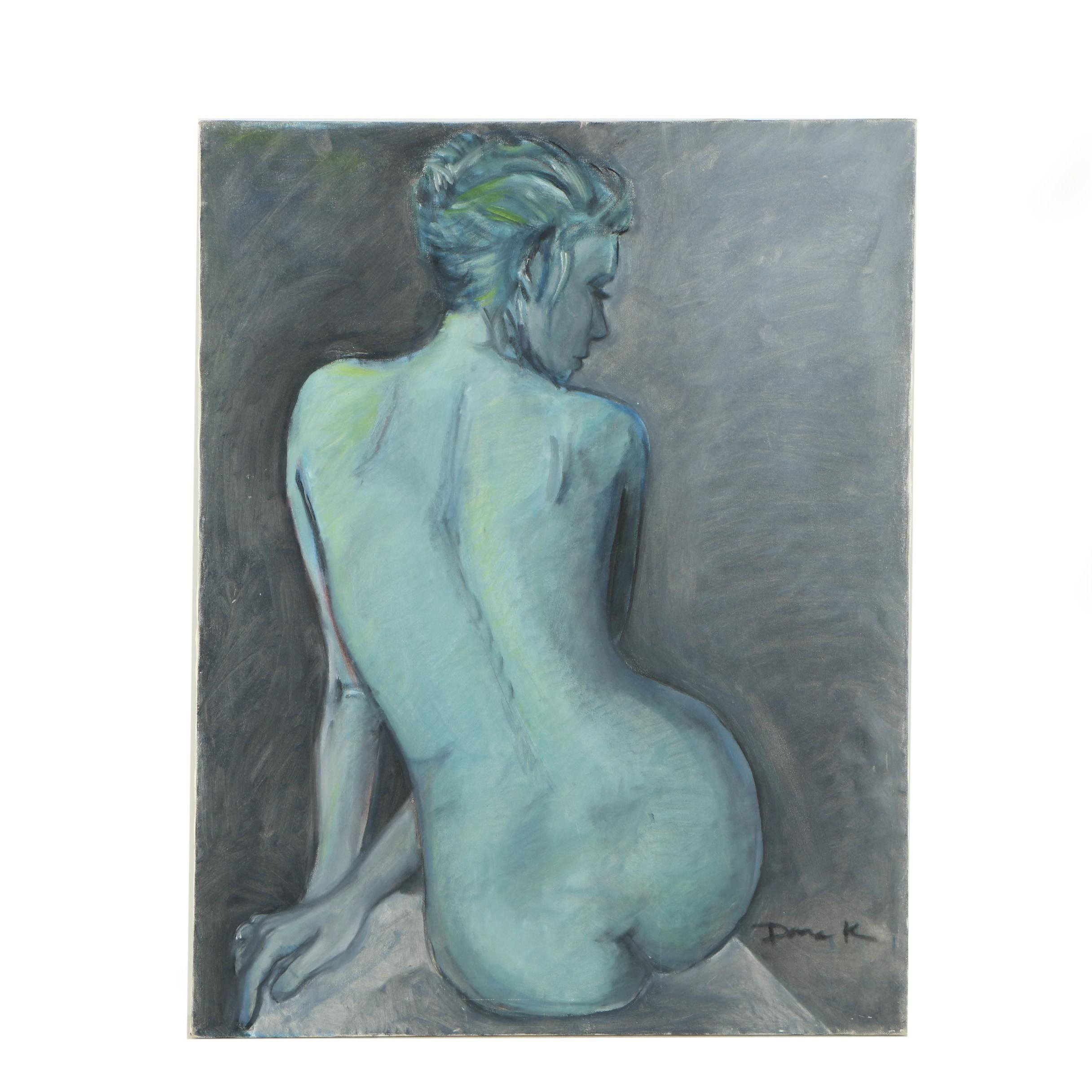 Dana K. Oil Painting of Nude Figure