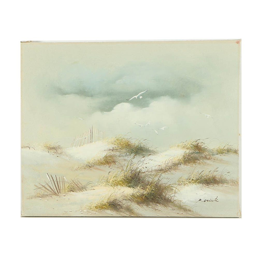 P Cristi Oil Painting of Sand Dunes