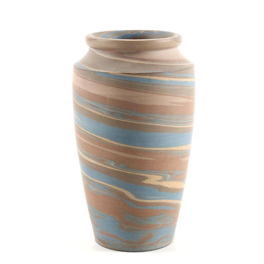 Early Niloak Mission Swirl Stoneware Vase Ebth