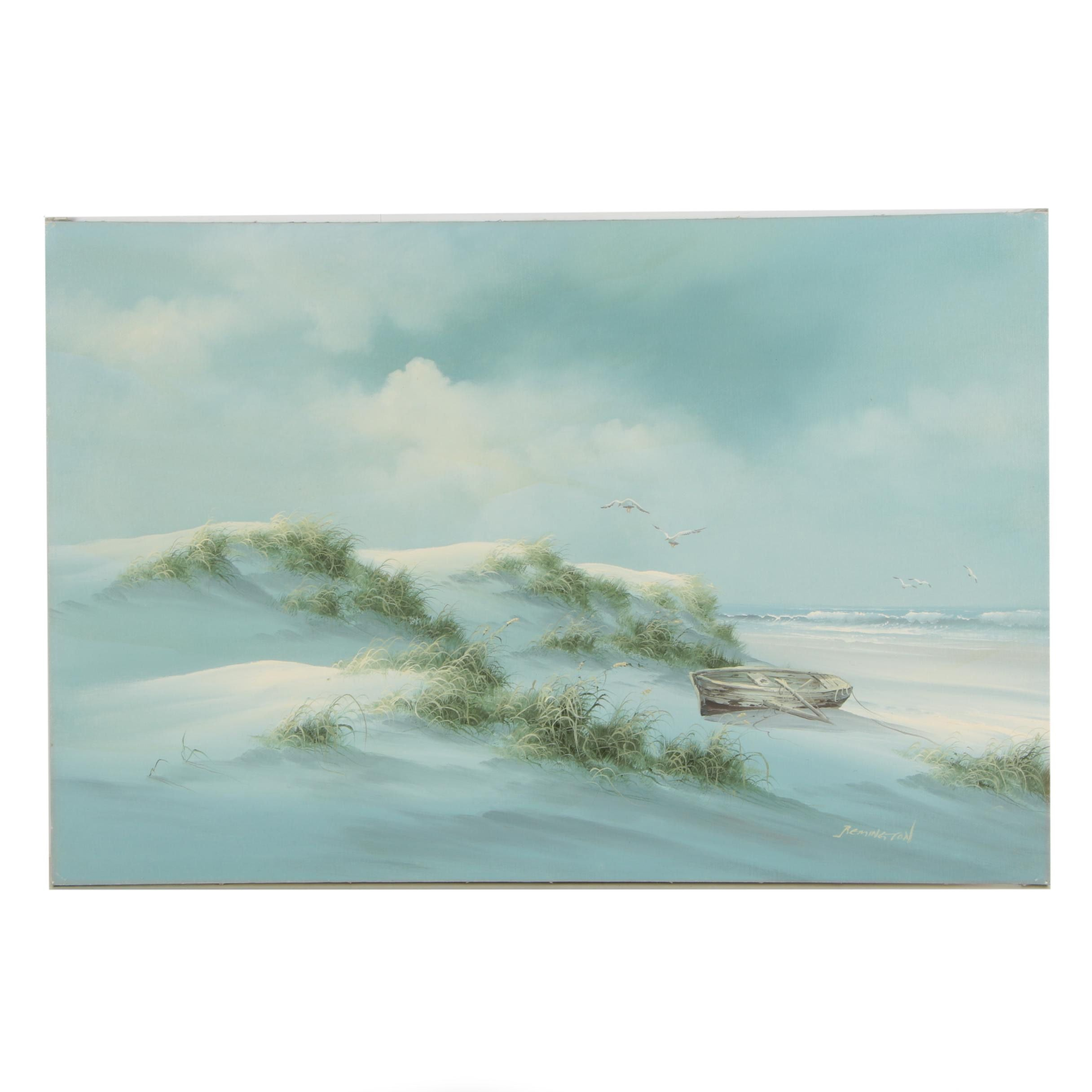 Remington Oil Painting of Sand Dunes