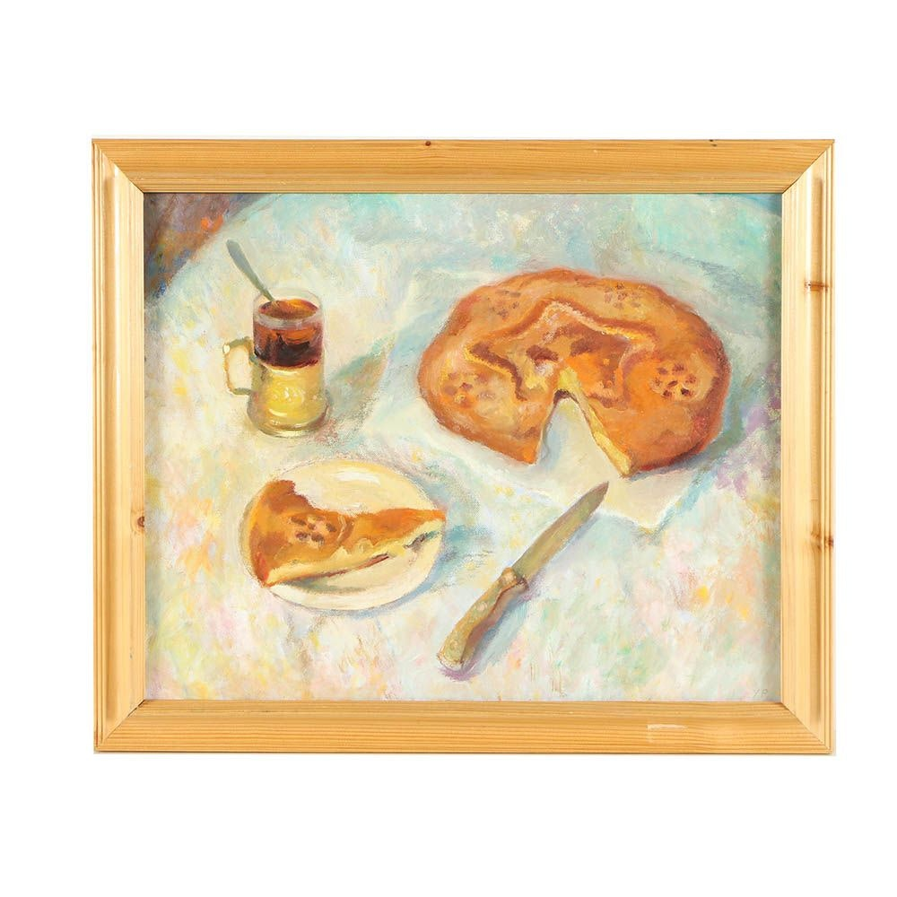 """2004 Acrylic Painting """"Kulebyaka"""""""