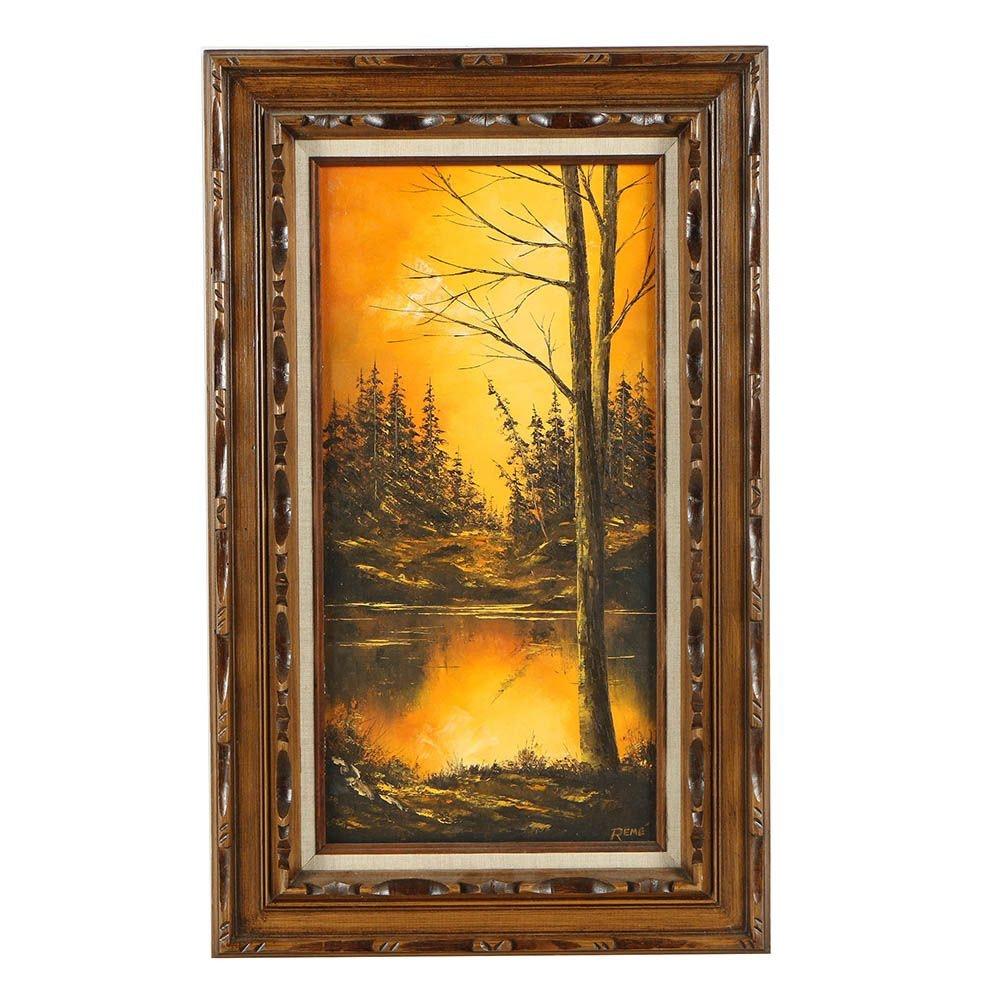 Ron Reme 20th Century Landscape Oil Painting