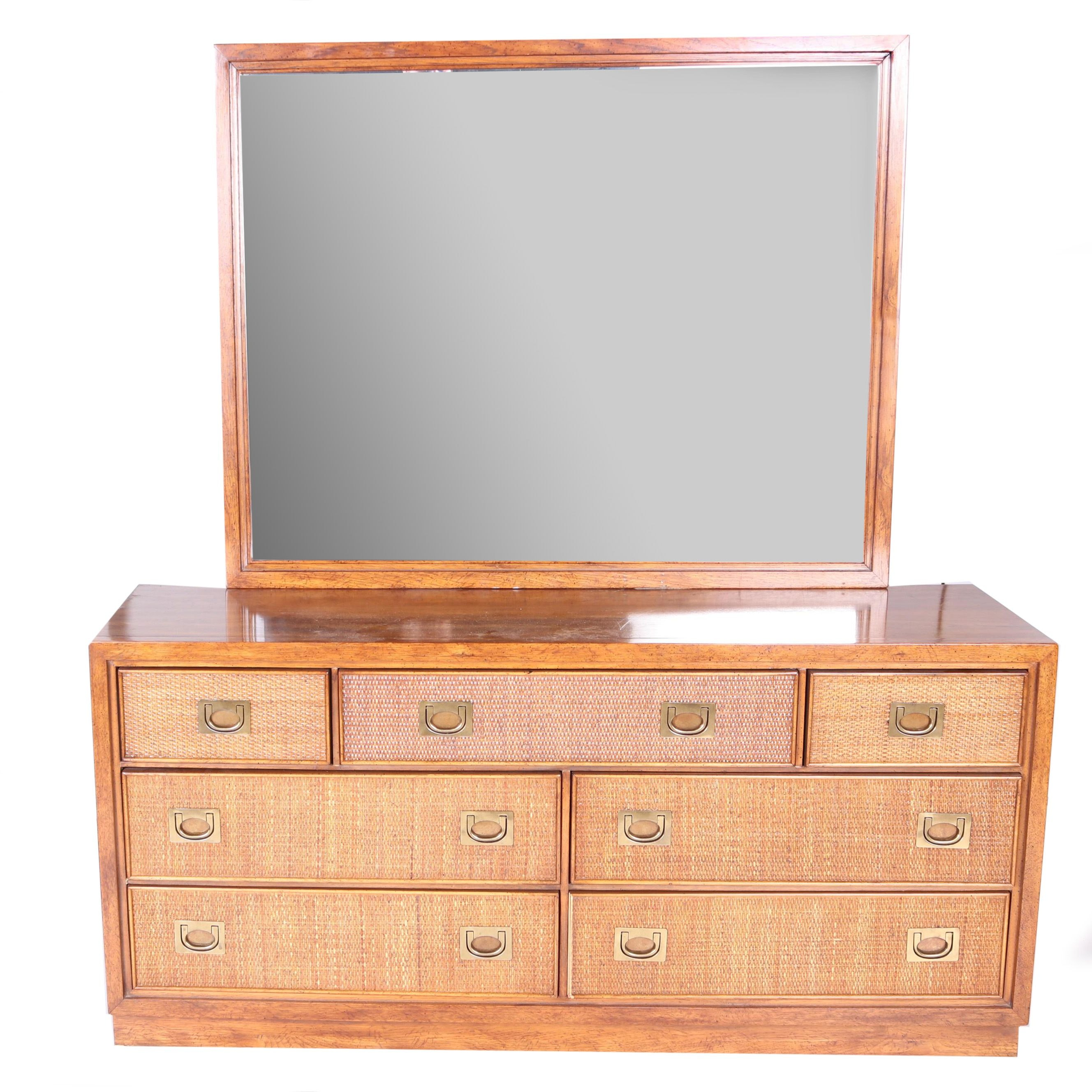 Vintage Mid Century Modern Dresser with Mirror by American of Martinsville