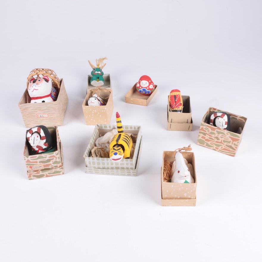 Handpainted Papier-Mâché and Clay Figurines : EBTH