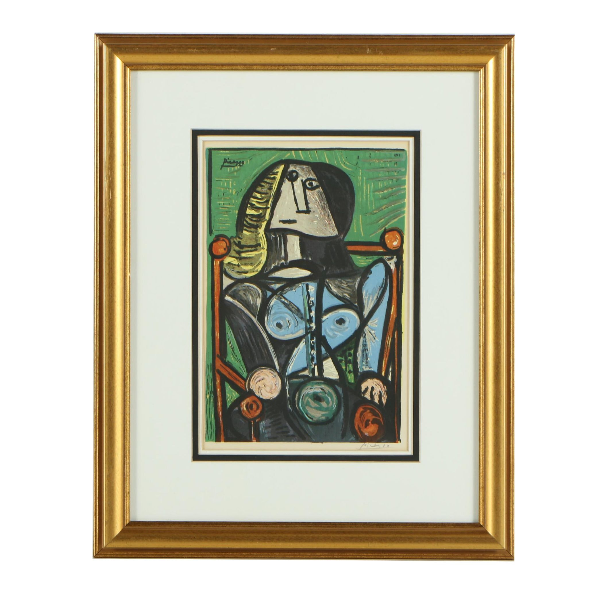 "After Pablo Picasso Serigraph ""Personnage Cubiste"""