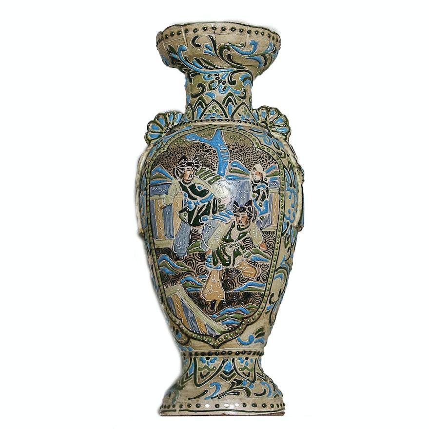 Japanese Moriage Vase Ebth