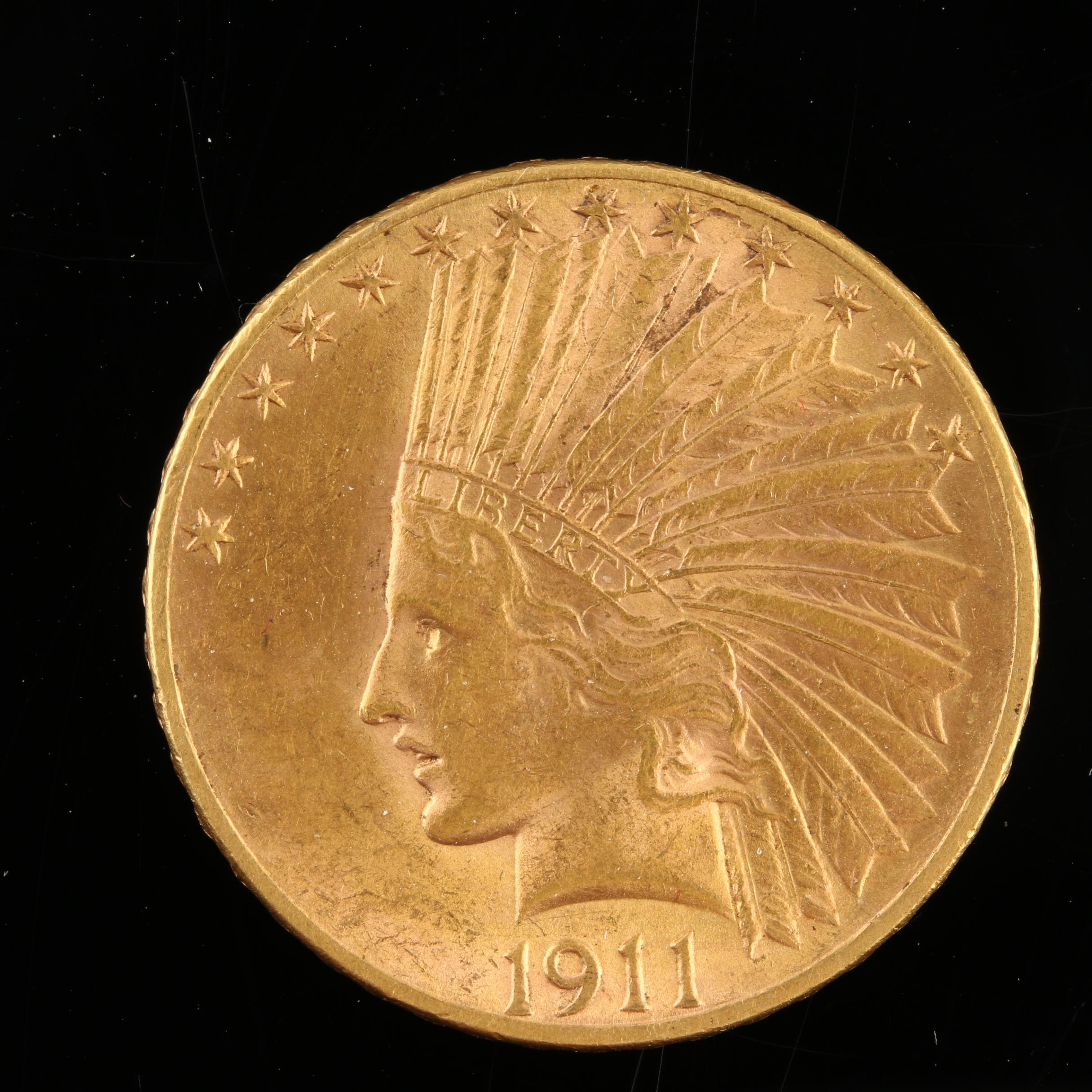 1911 Indian Head $10 Gold Eagle