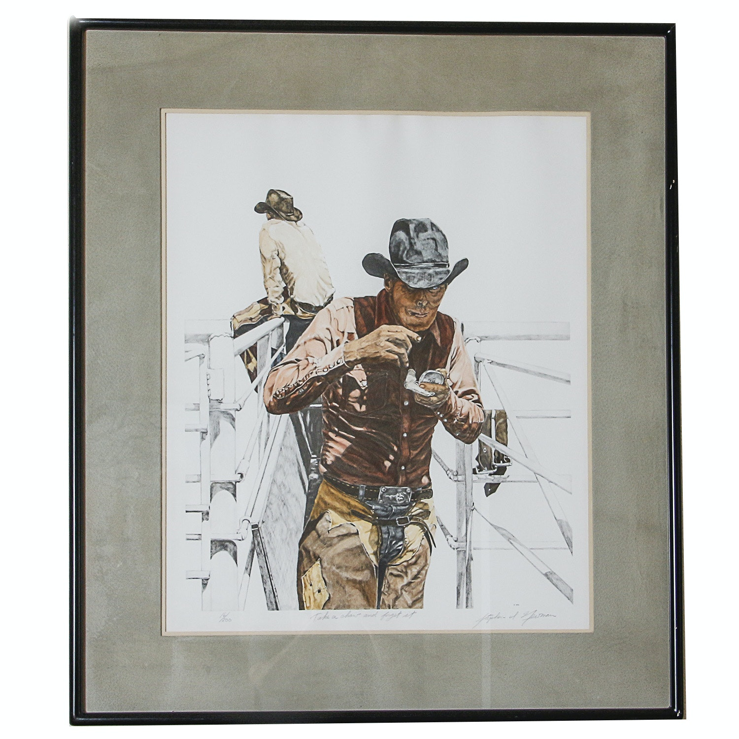 """Stephen Newman Lithograph """"Take a Chow and Forget it"""""""