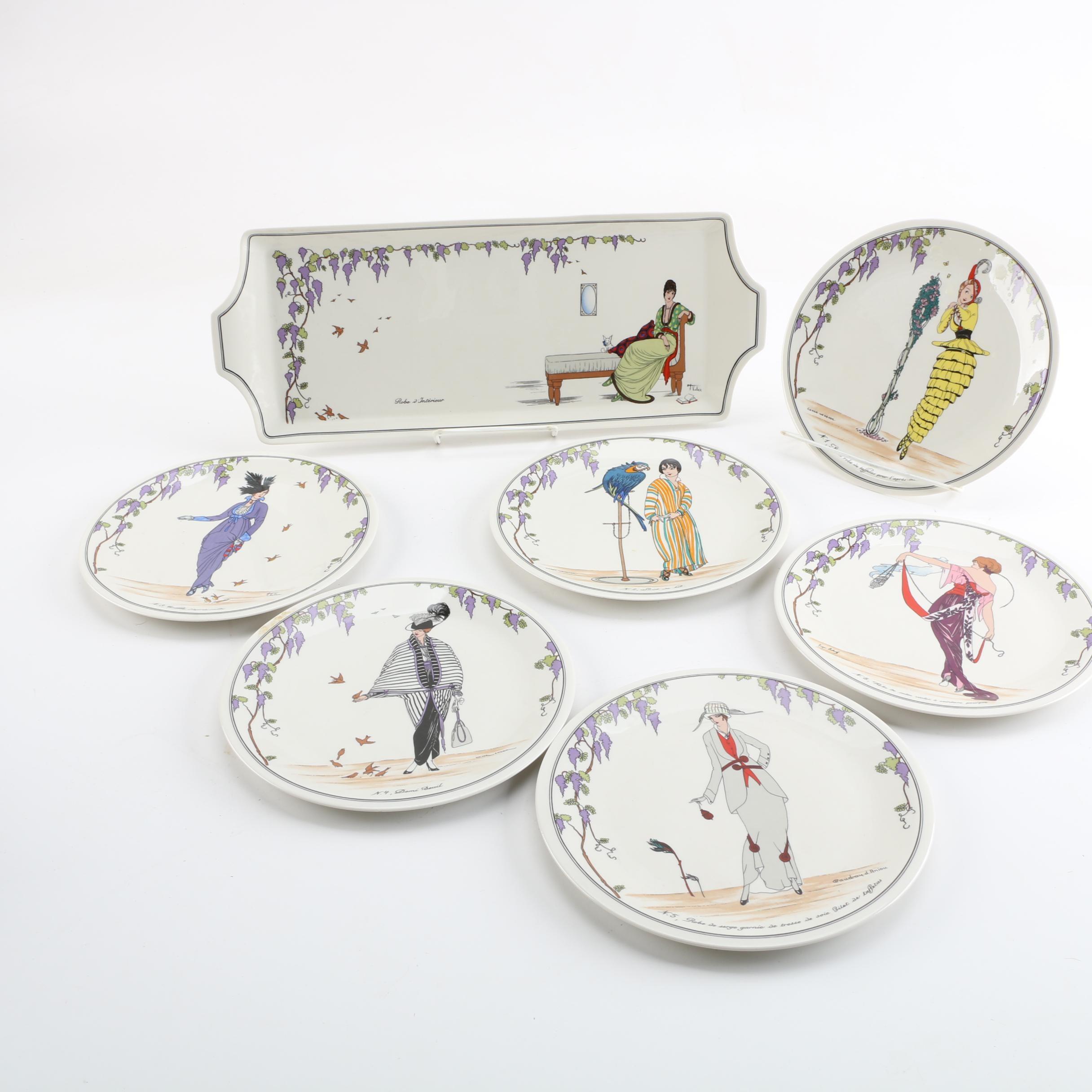 Villeroy Boch Design 1900 Dinner Plates And Sandwich Tray Ebth