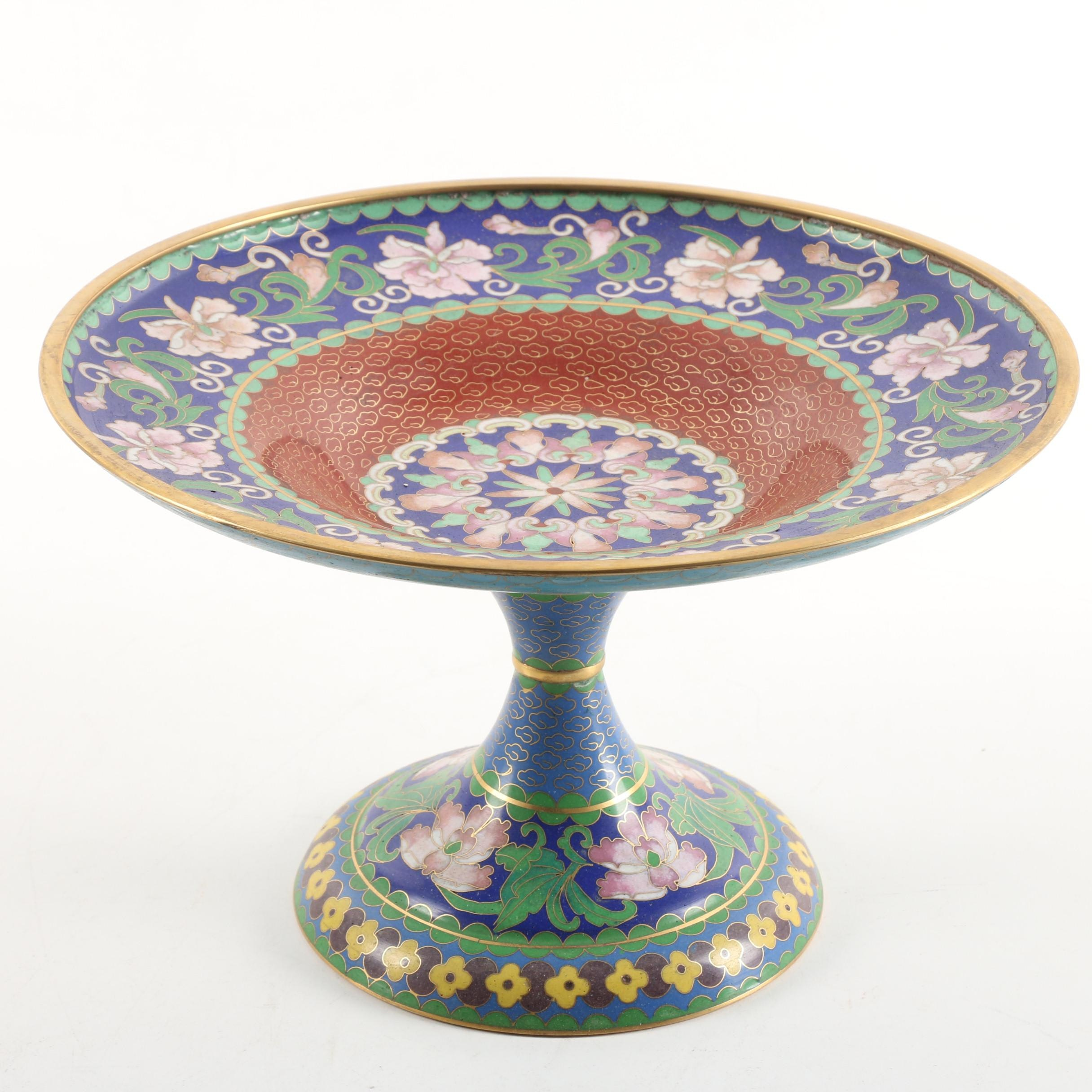 Chinese Cloisonné Compote