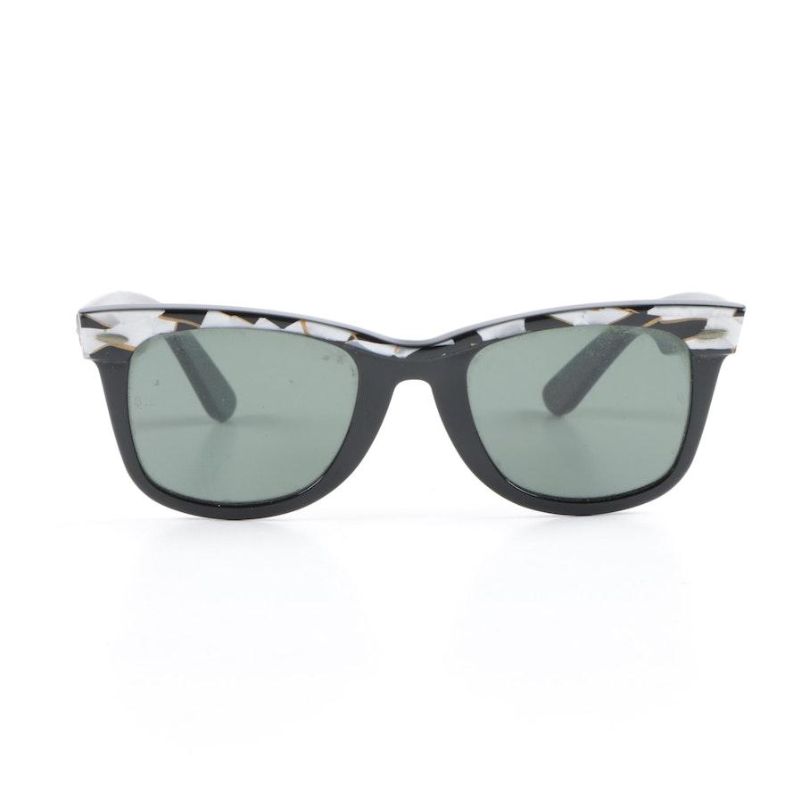 47443247f1 Vintage B L Ray-Ban W1085 Wayfarer Street Neat Mosaic Sunglasses   EBTH