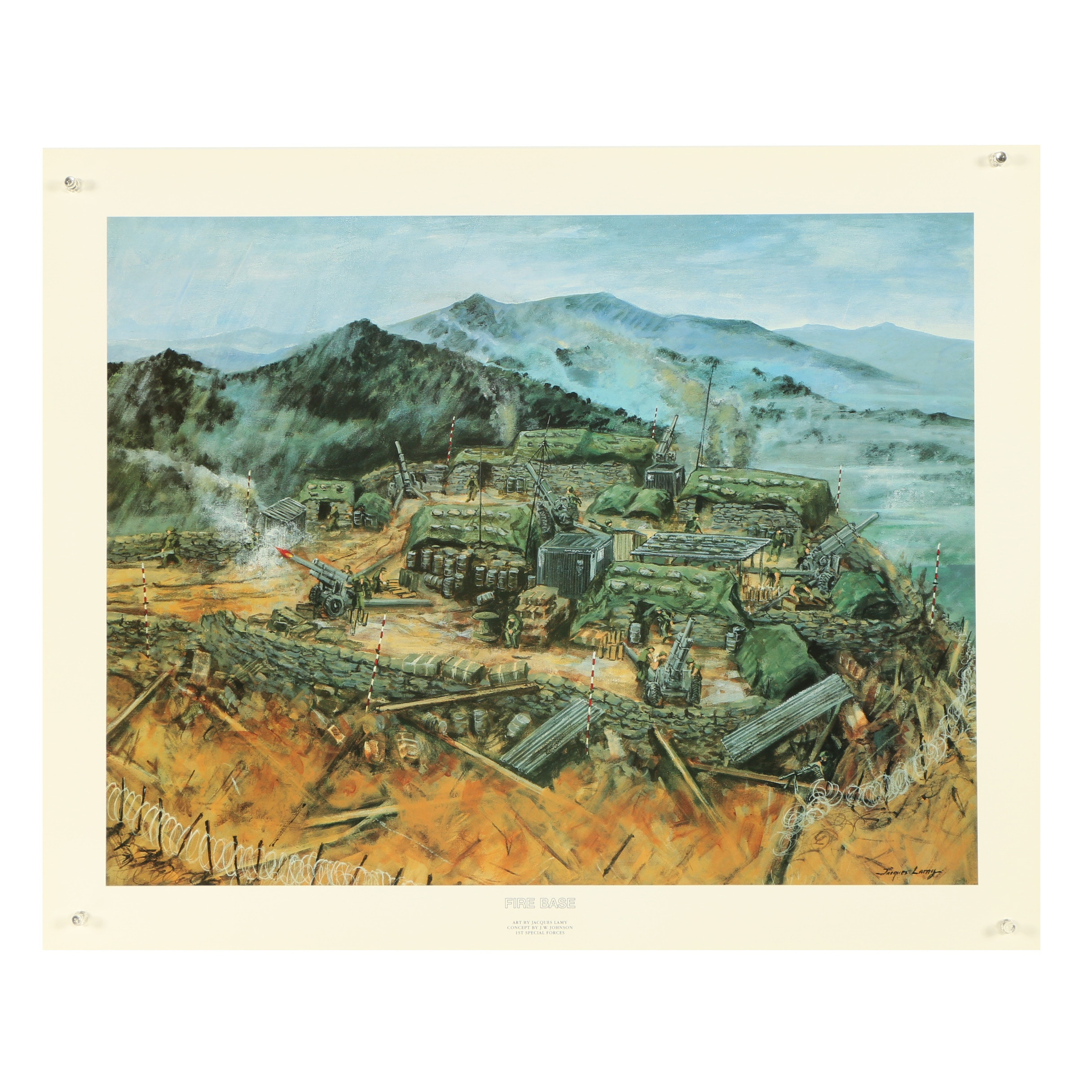 "Offset Lithograph After Jacques Lamy ""Fire Base"""