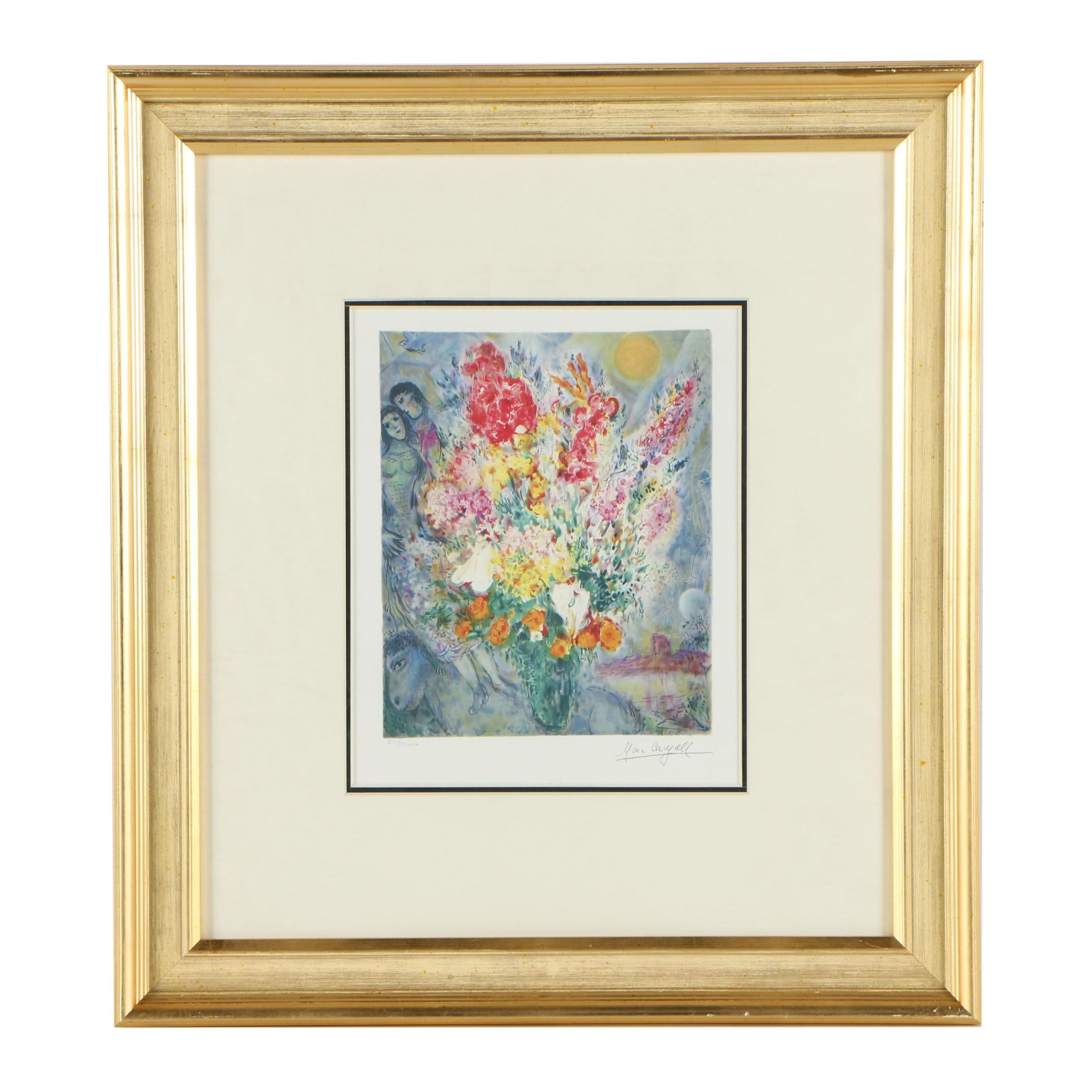 """Giclee Print After Marc Chagall """"Flowers"""""""