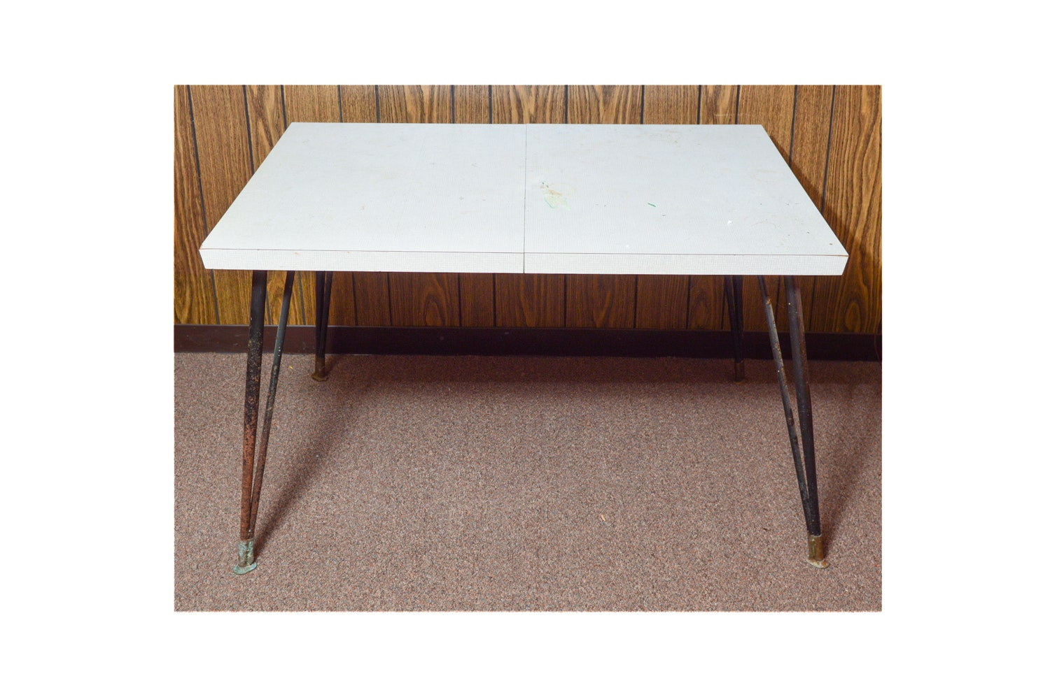 Mid Century Modern Table with Hairpin Style Legs