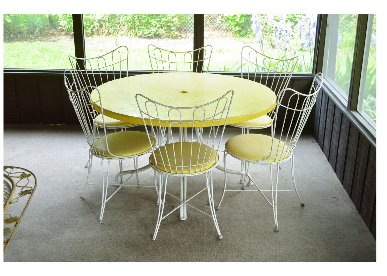 Mid 20th Century Patio Table and Chairs