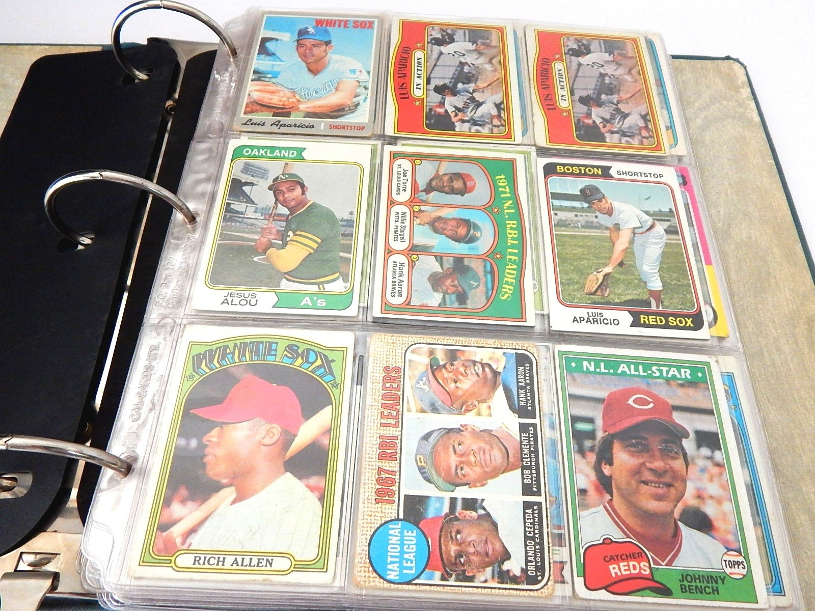 Album of Vintage Baseball Cards from 1950s through 1980s