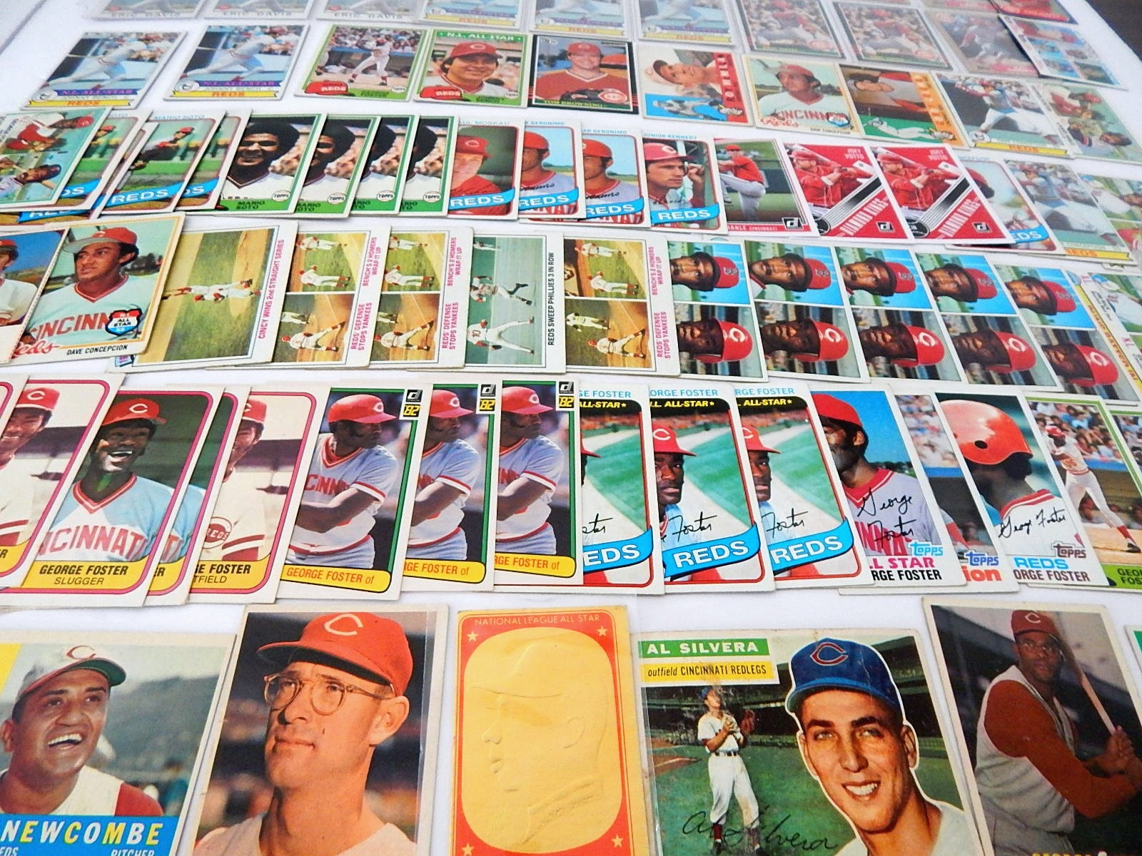 Large Cincinnati Reds Baseball Card Collection from 1950s through 2000