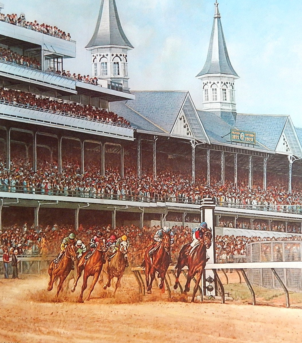 "C. W. Vittitow Signed Limited Offset Lithograph ""The Kentucky Derby"""