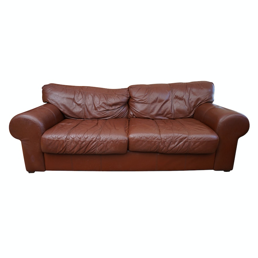 Brown Leather Sofa By Mart