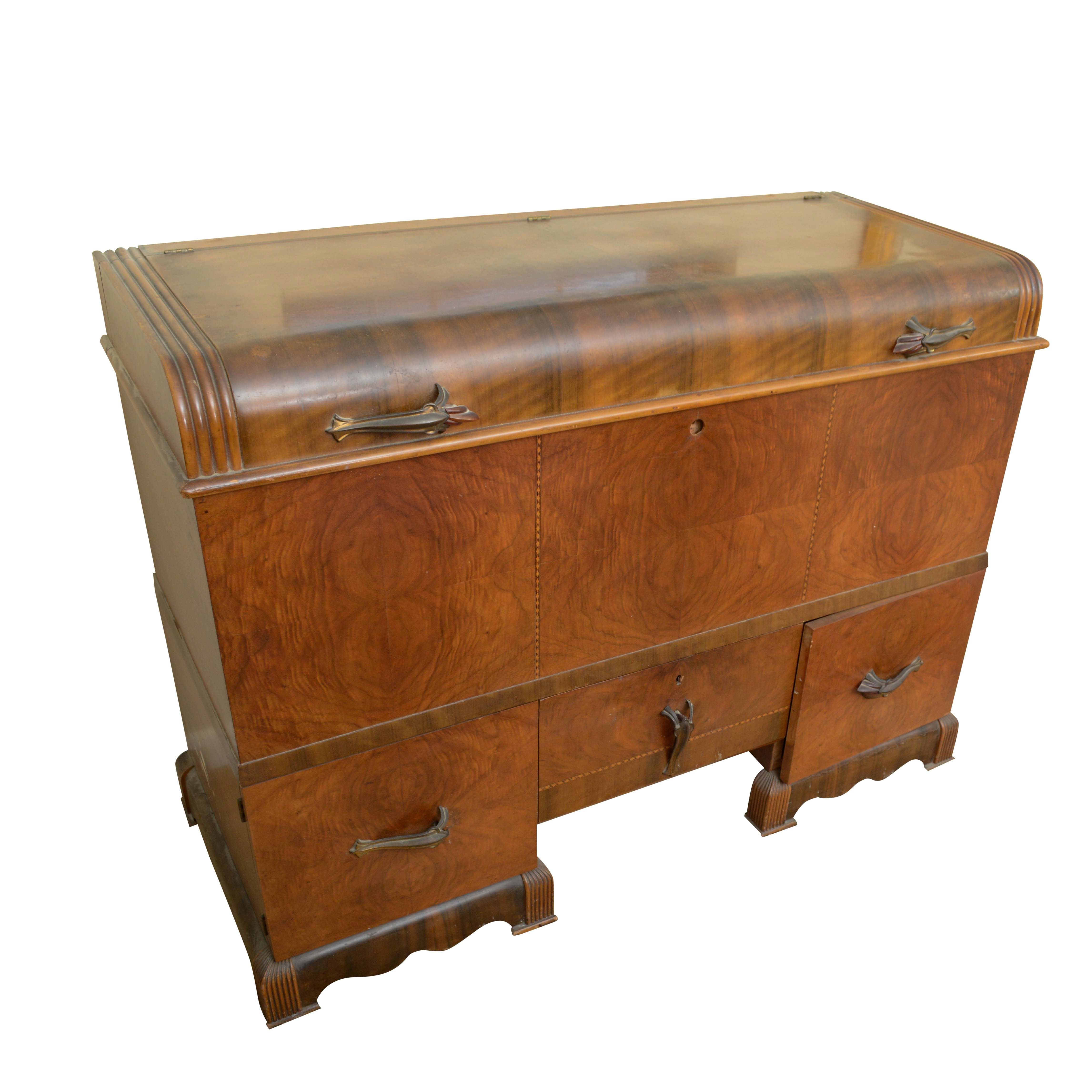 Vintage Art Deco Style Cedar Chest by West Branch Novelty Company