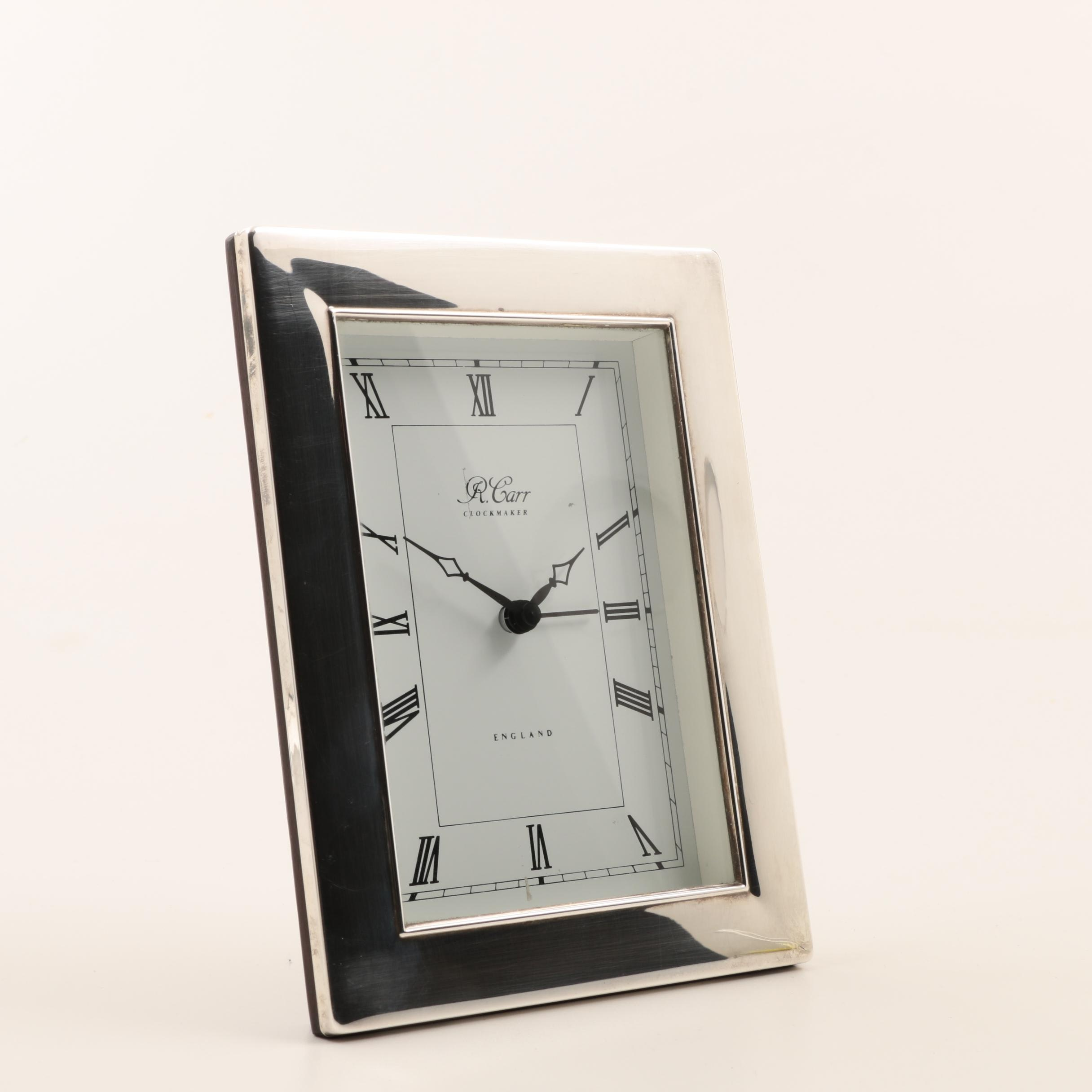 Carr's of Sheffield British Sterling Silver Desk Clock