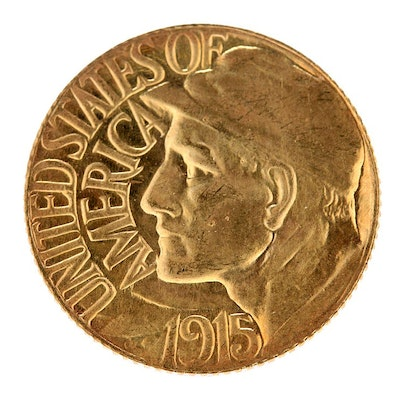 1915-S Panama Pacific Commemorative Gold One Dollar Coin