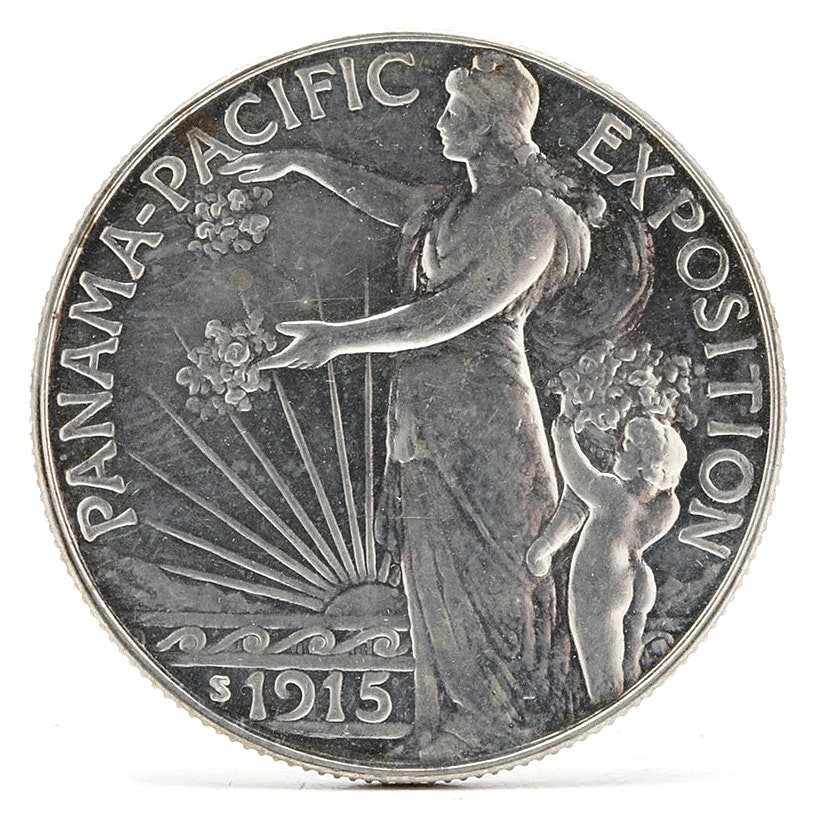 1915-S Panama Pacific Exposition Half Dollar Silver Commemorative