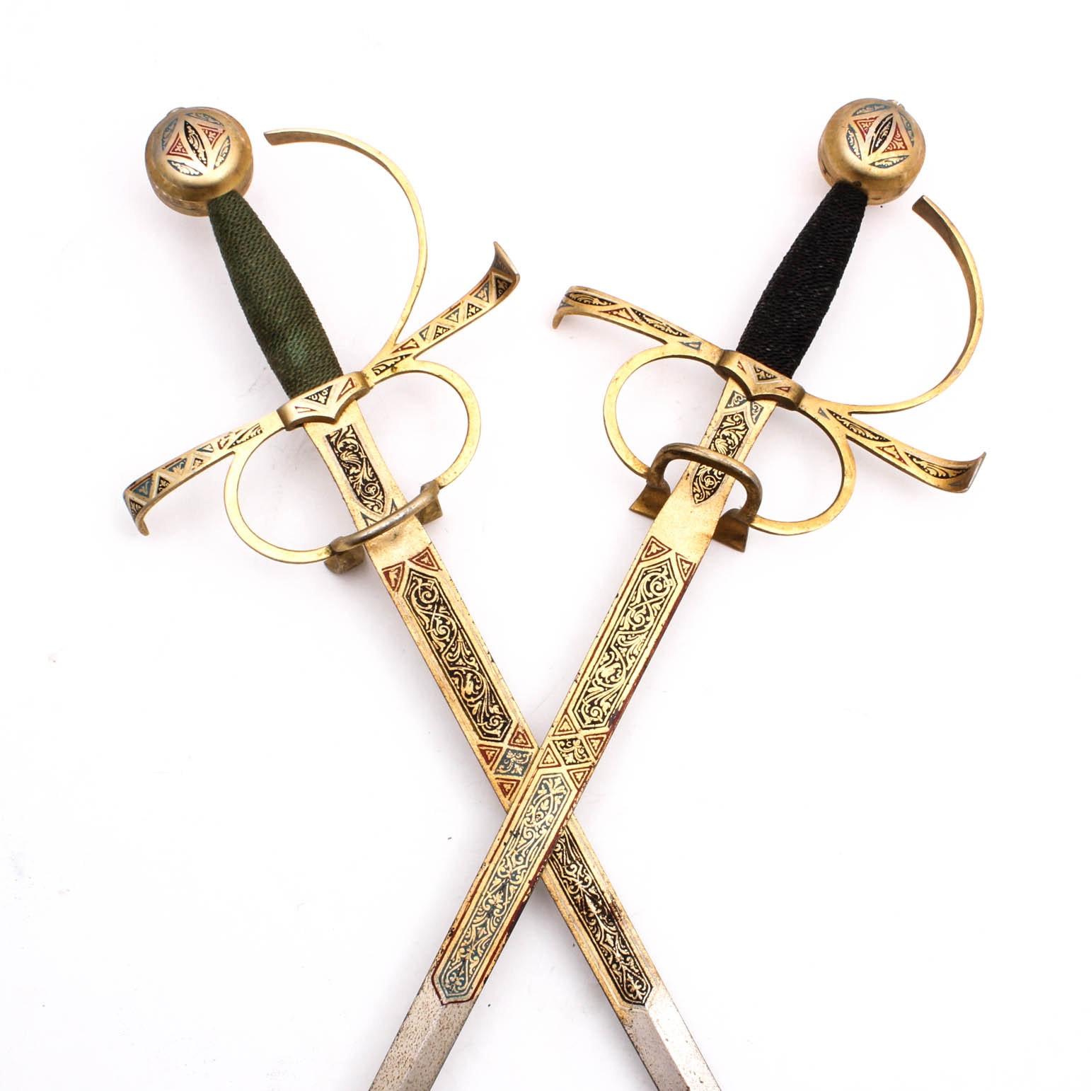 Decorative Enameled Swords